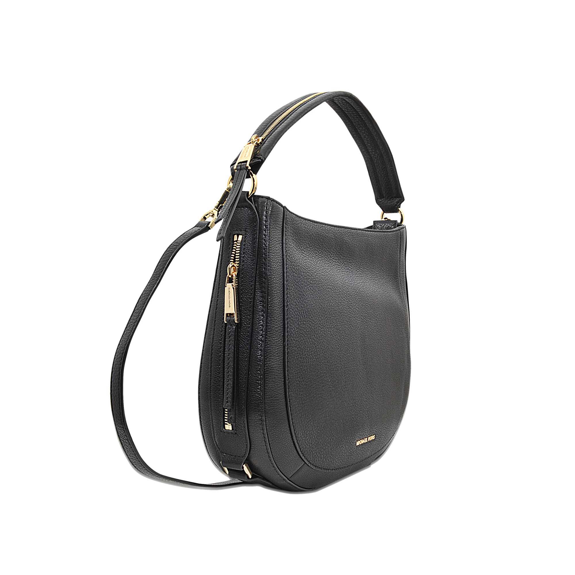 ce331b93bcdb MICHAEL Michael Kors Julia Medium Congreenible Shoulder Bag in Black ...