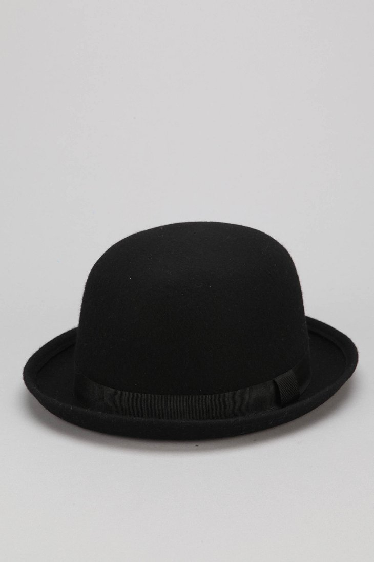 2fddb994df077 Urban Outfitters Felt Bowler Hat in Black for Men - Lyst