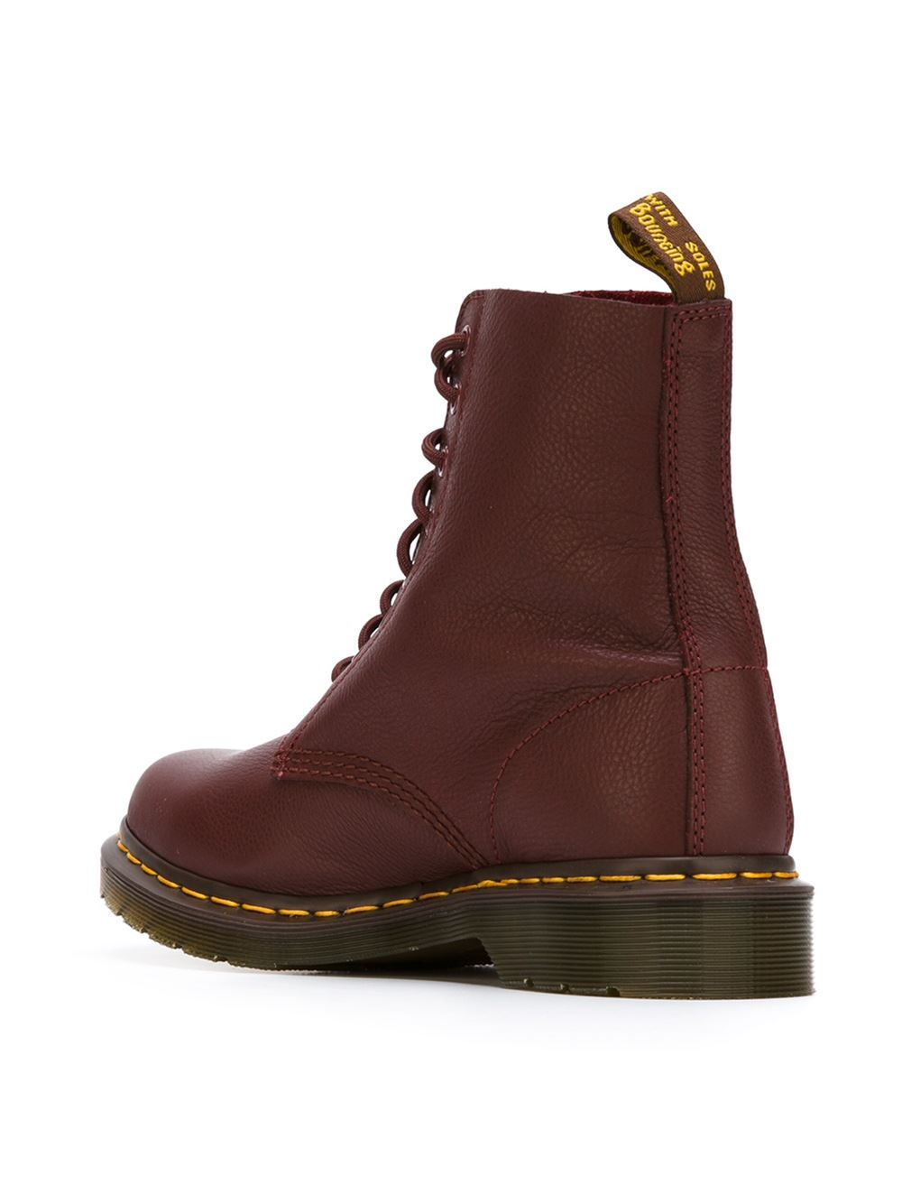 dr martens 39 pascal 39 lace up boots in red lyst. Black Bedroom Furniture Sets. Home Design Ideas