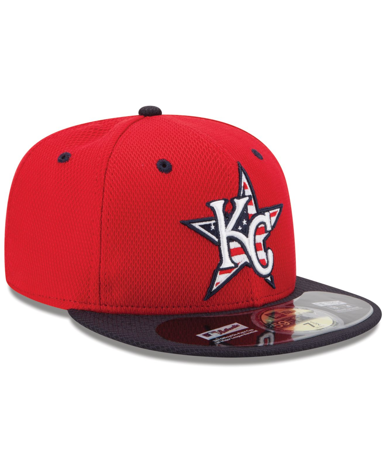 sneakers for cheap 6de61 4ec67 KTZ Kansas City Royals July 4Th Stars   Stripes 59Fifty Cap in Red ...