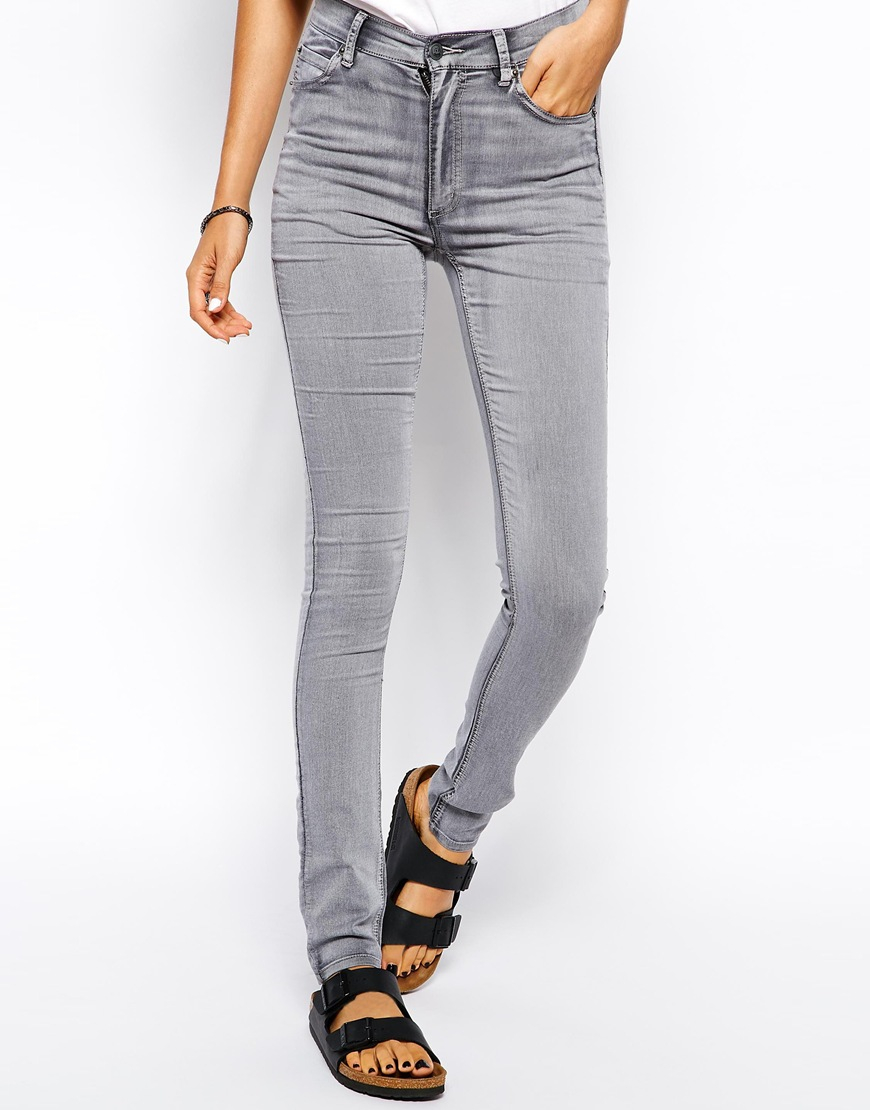 Cheap monday Second Skin High Waist Skinny Jean in Gray | Lyst