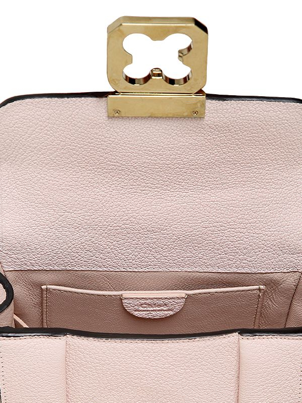 Chlo¨¦ Pink Leather Mini Elsie Bag in Pink | Lyst