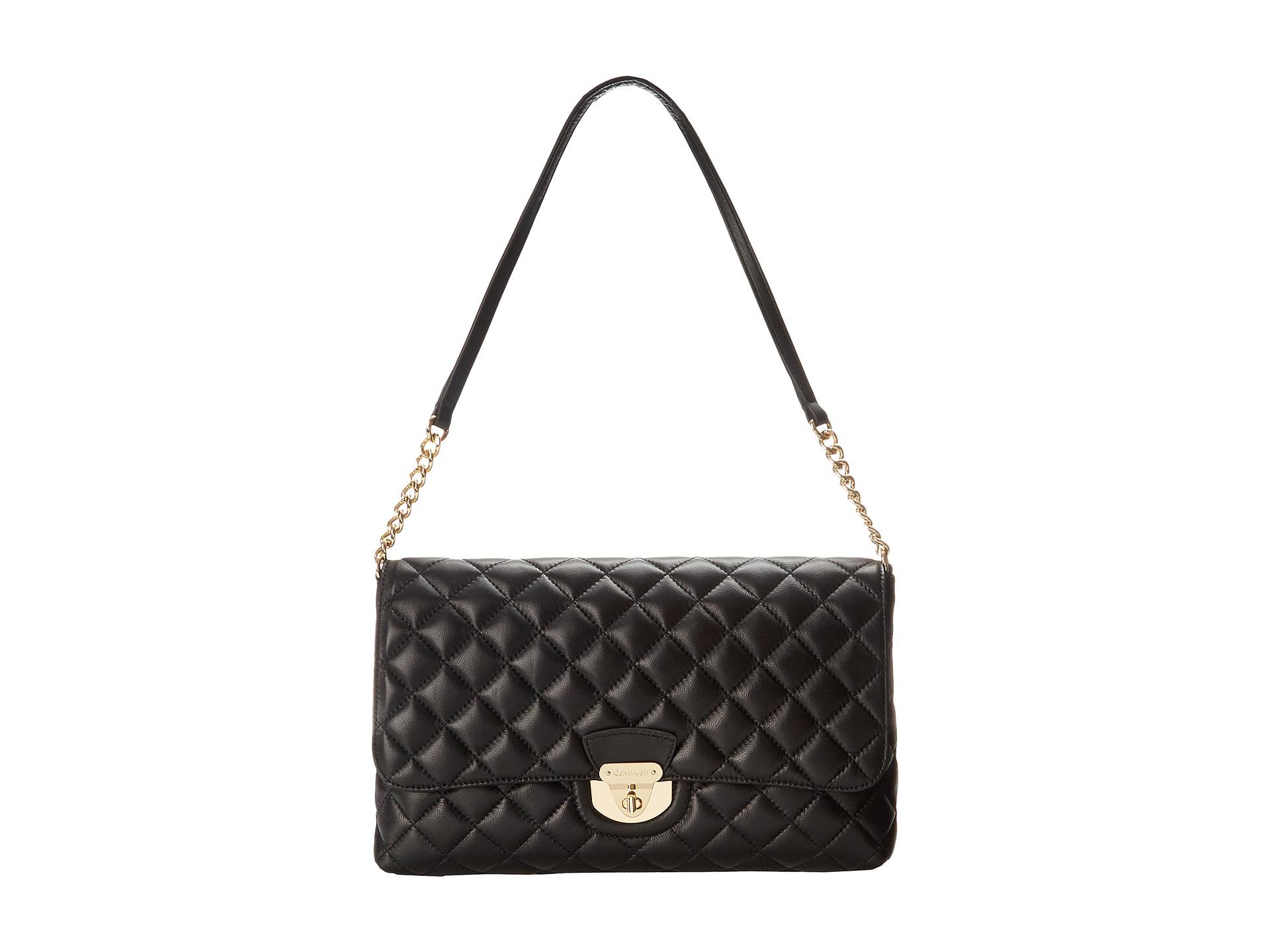 ff0acef05ef72 Lyst - Calvin Klein Lamb Shoulder Bag in Black