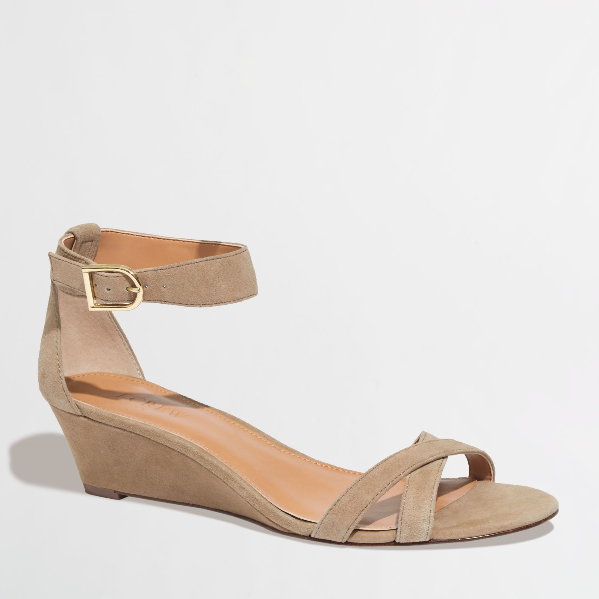 j crew factory demi wedge sandals in lyst