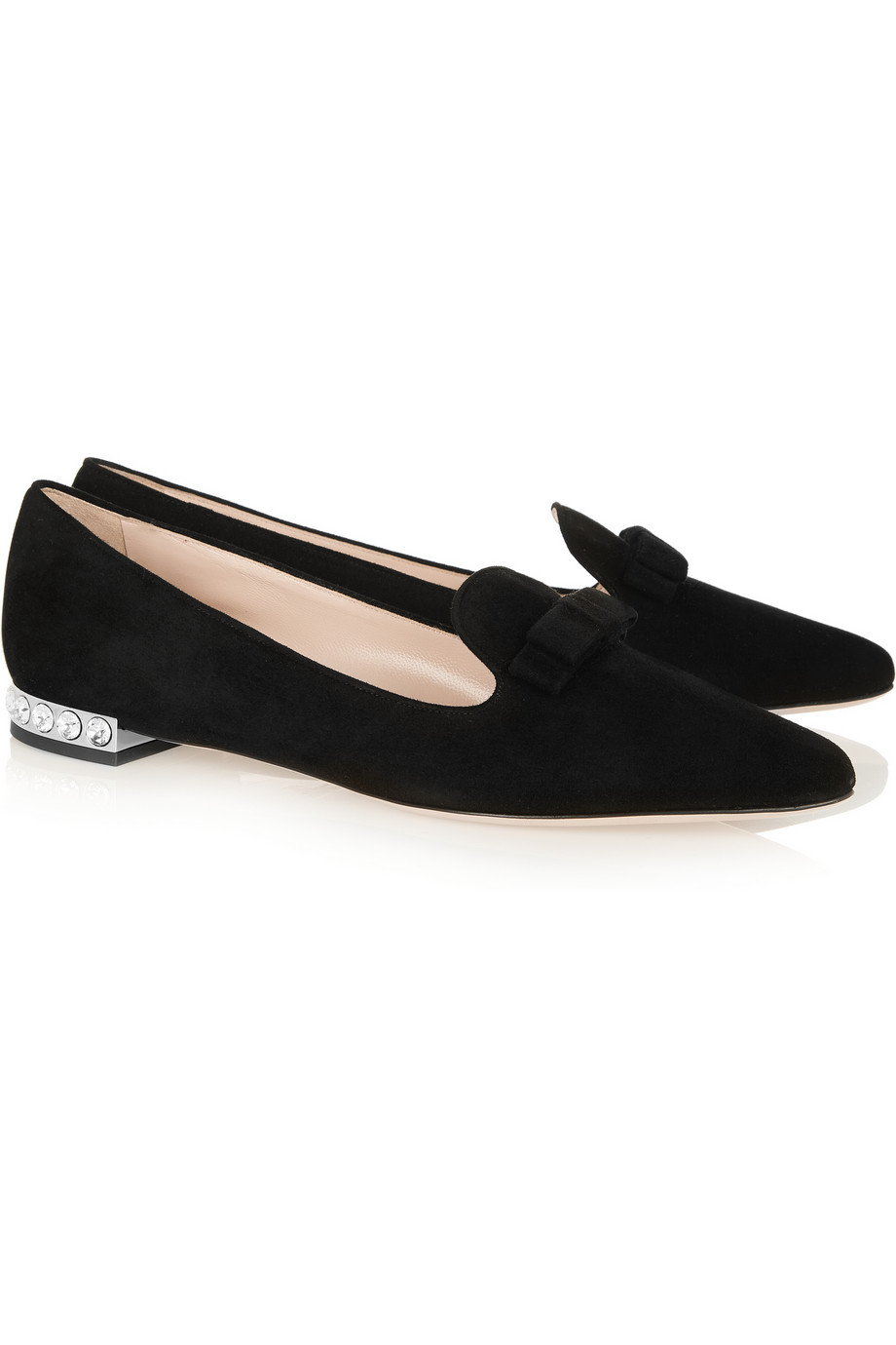Miu Miu Leather Round-Toe Flats free shipping collections mL4R9Ydww