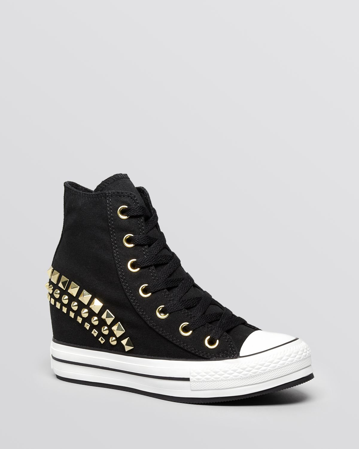 converse lace up high top wedge sneakers all platform