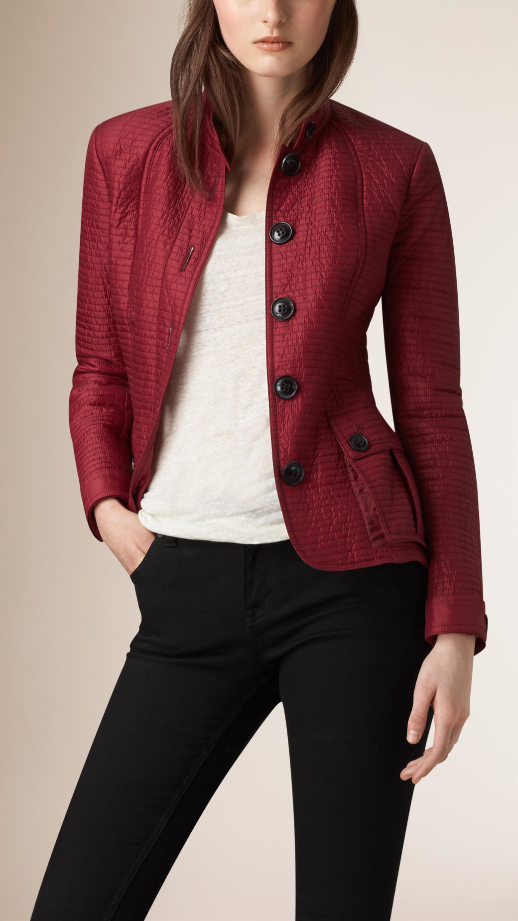 Burberry quilted jacket fit