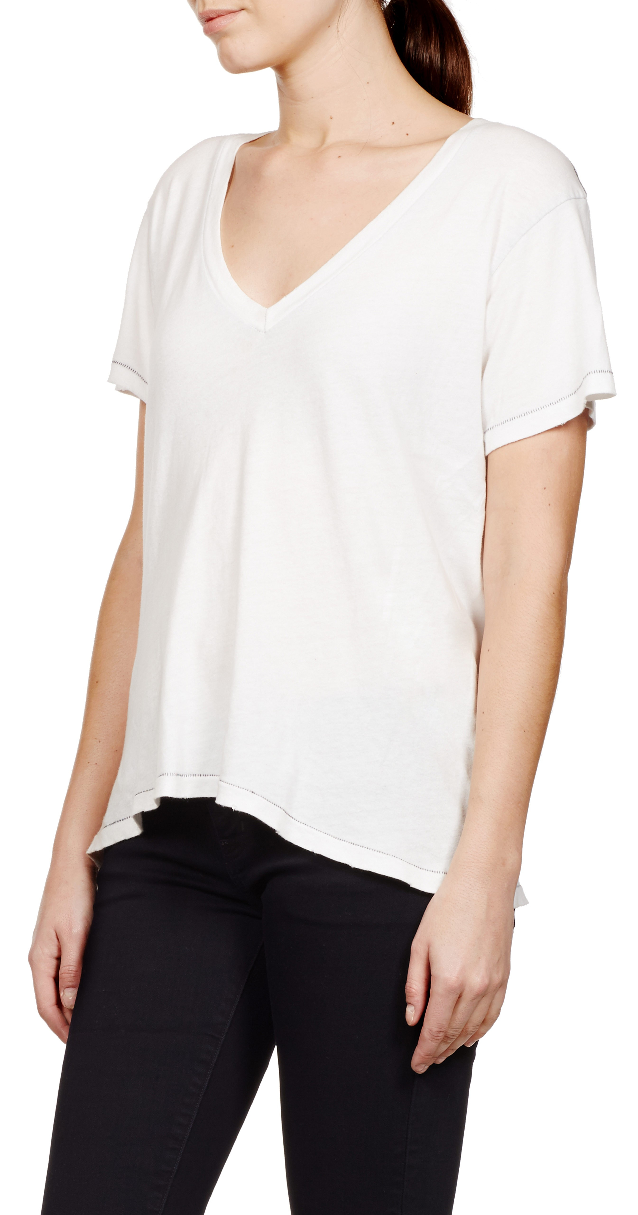 current elliott the v neck t shirt in white lyst