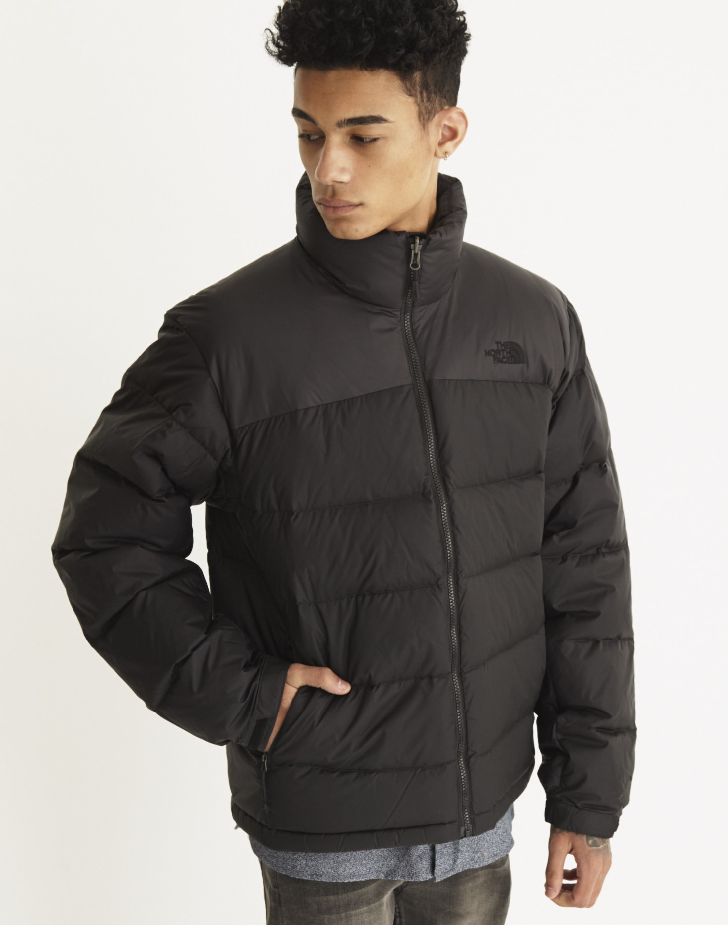 the north face nuptse 2 padded jacket in black for men lyst