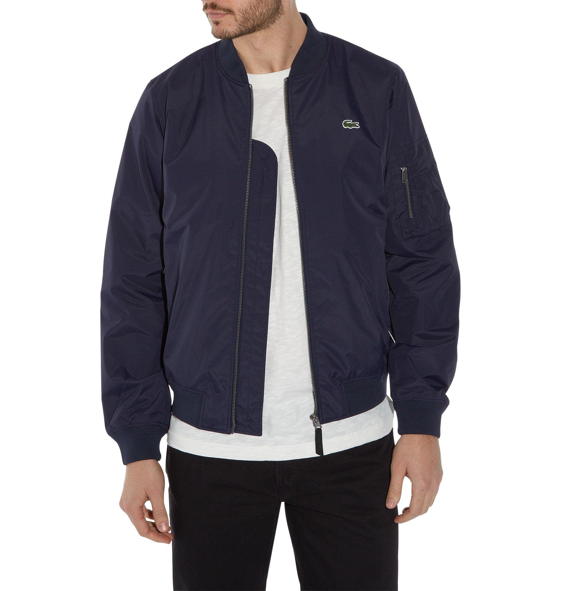 Lacoste Sports Full Zip Bomber Jacket in Blue for Men | Lyst