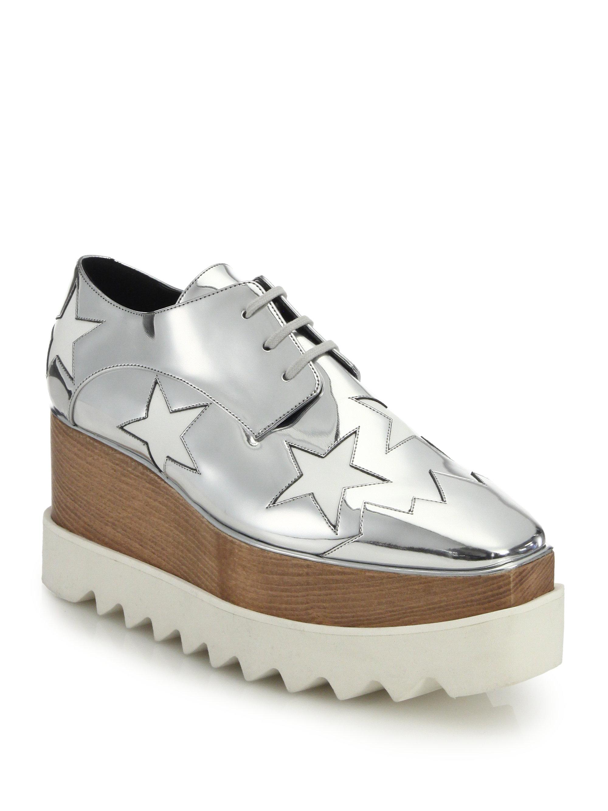 Stella McCartney Metallic Platform Oxfords cheap online store fashion Style cheap online discounts e9PeYMird