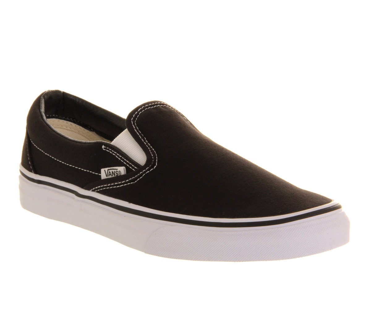 Mens White Vans Slip On Shoes