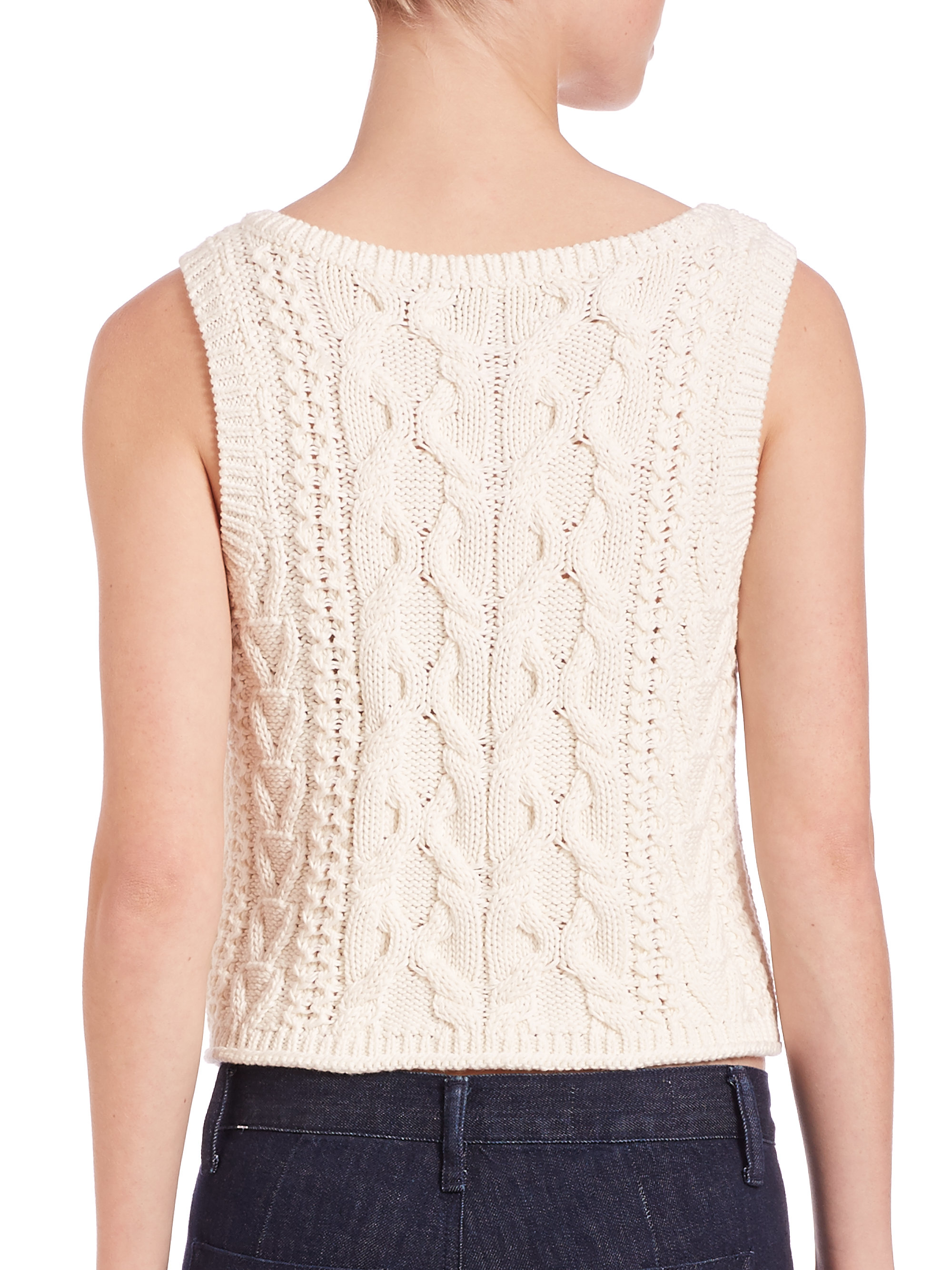Polo Ralph Lauren Women S Natural Cotton Cable Knit Sweater