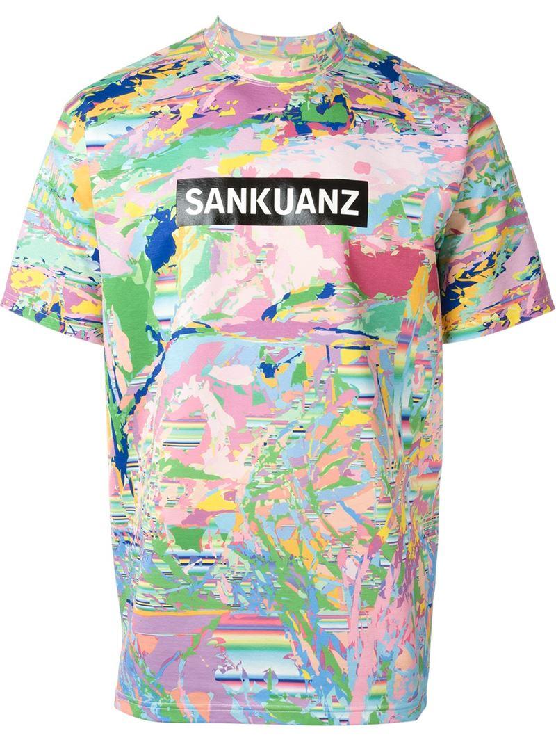 Sankuanz digital print t shirt for men lyst for Digital printed t shirts