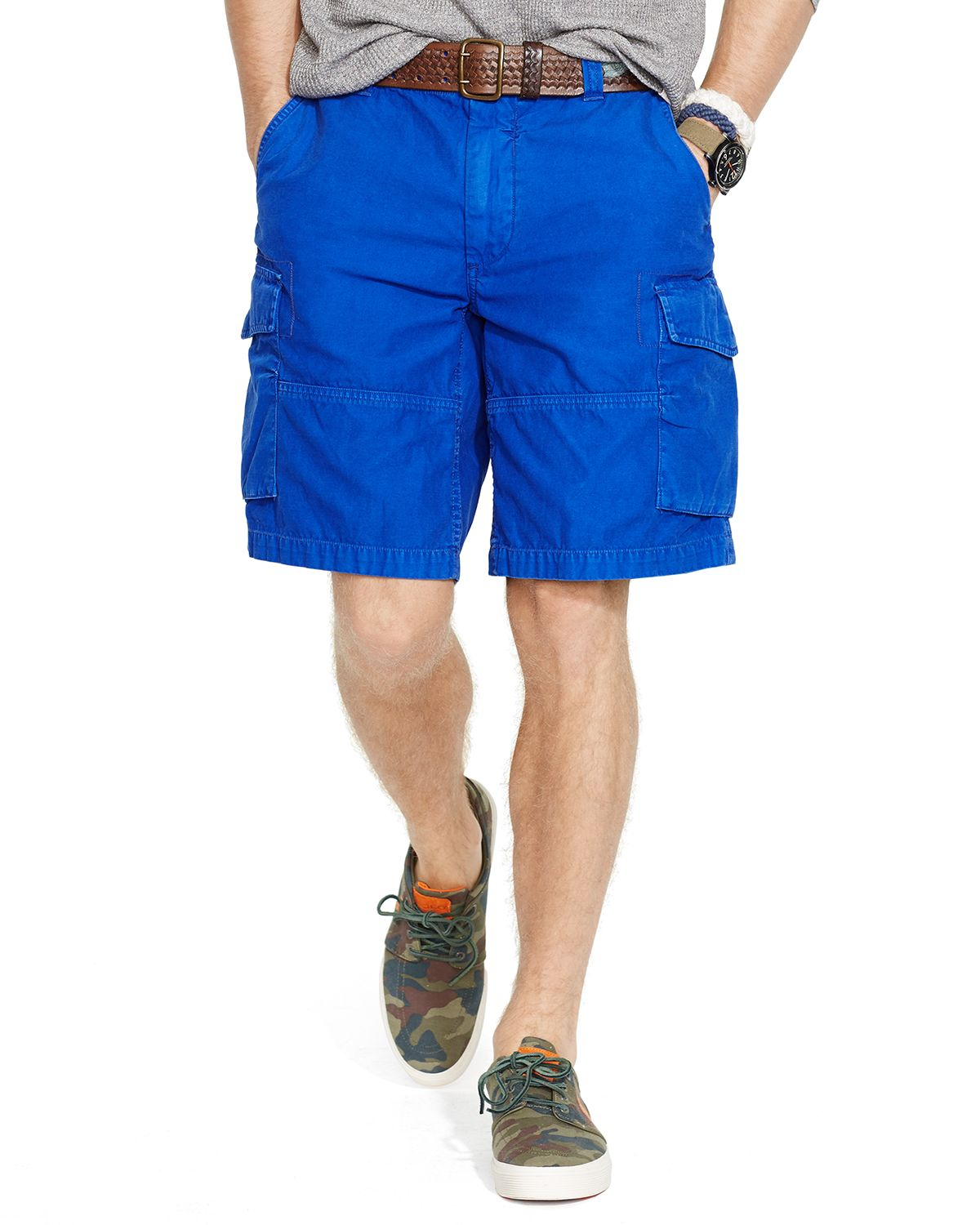 Ralph lauren Polo Commander Cargo Shorts - Classic Fit in Blue for ...