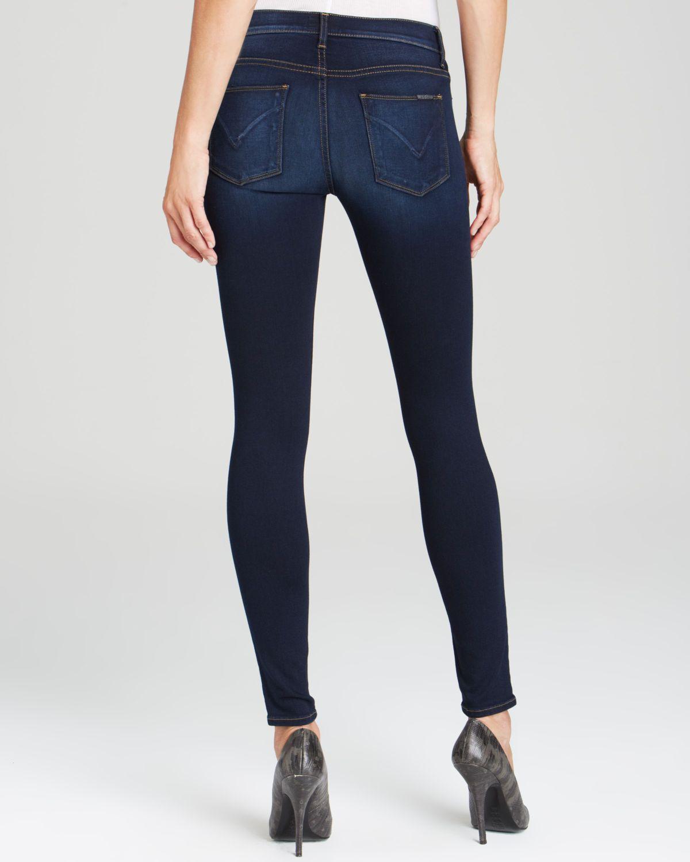731df2f7154 Lyst - Hudson Jeans Jeans - Nico Mid Rise Super Skinny In Shambles in  Metallic