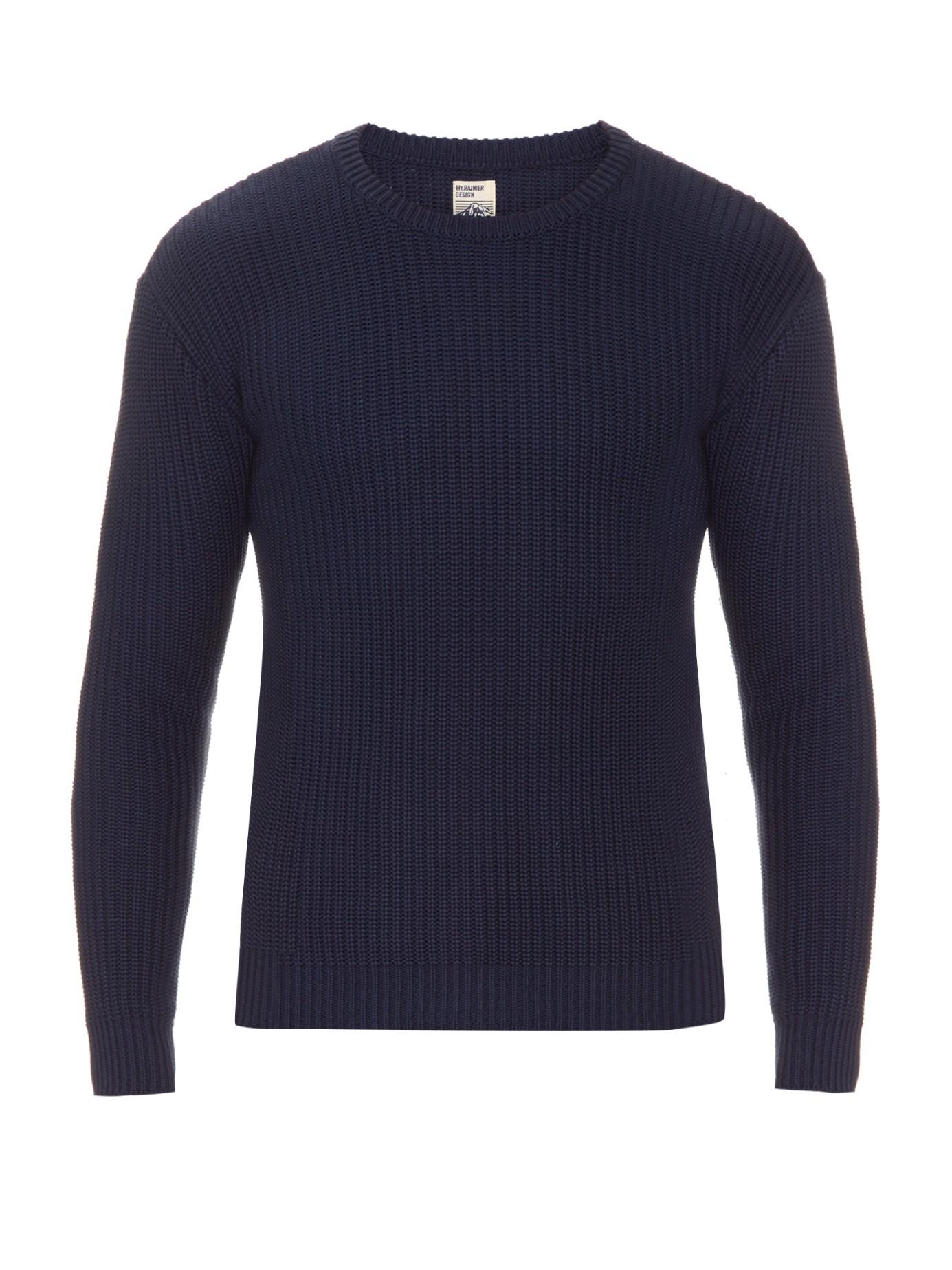 Mt. rainier design Summer Textured-knit Sweater in Blue for Men | Lyst