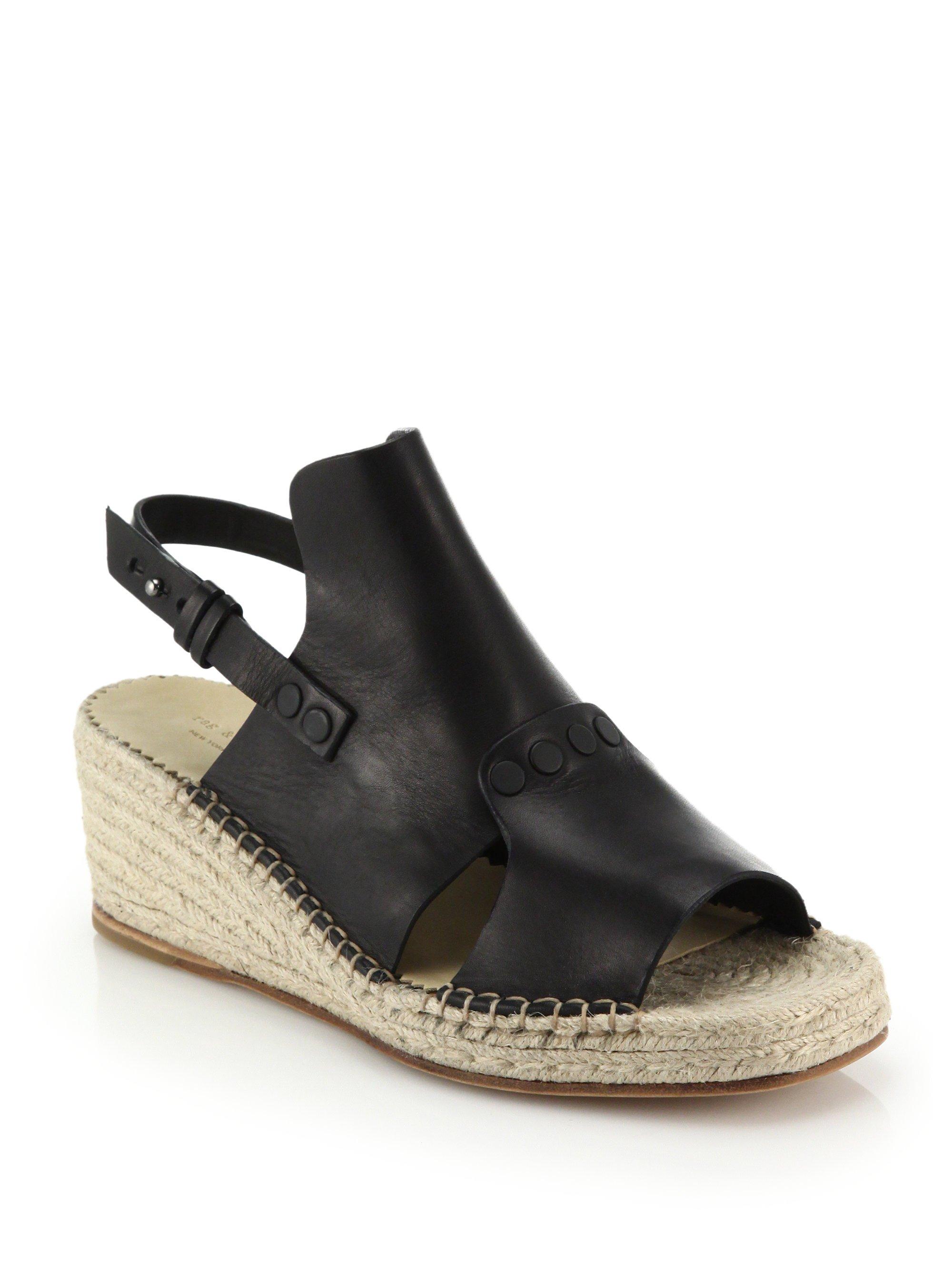 Rag & Bone Leather Wedge Sandals clearance genuine 9sDP15kM