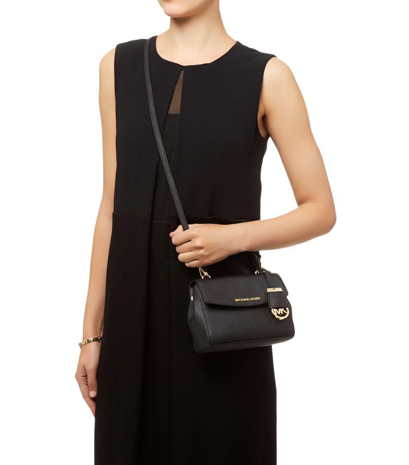 029d17197521 MICHAEL Michael Kors Ava Cross Body Bag in Black - Lyst