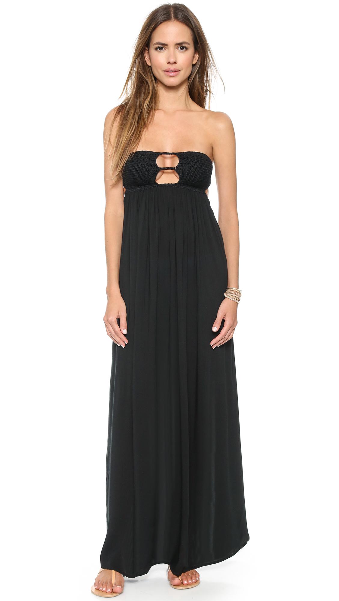 Black dress maxi - Gallery
