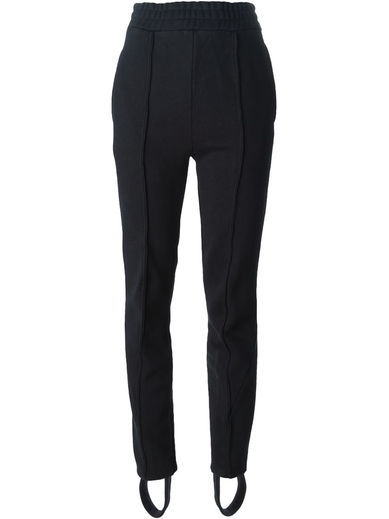 Vetements Cotton Blend Stirrup Pants In Black Lyst
