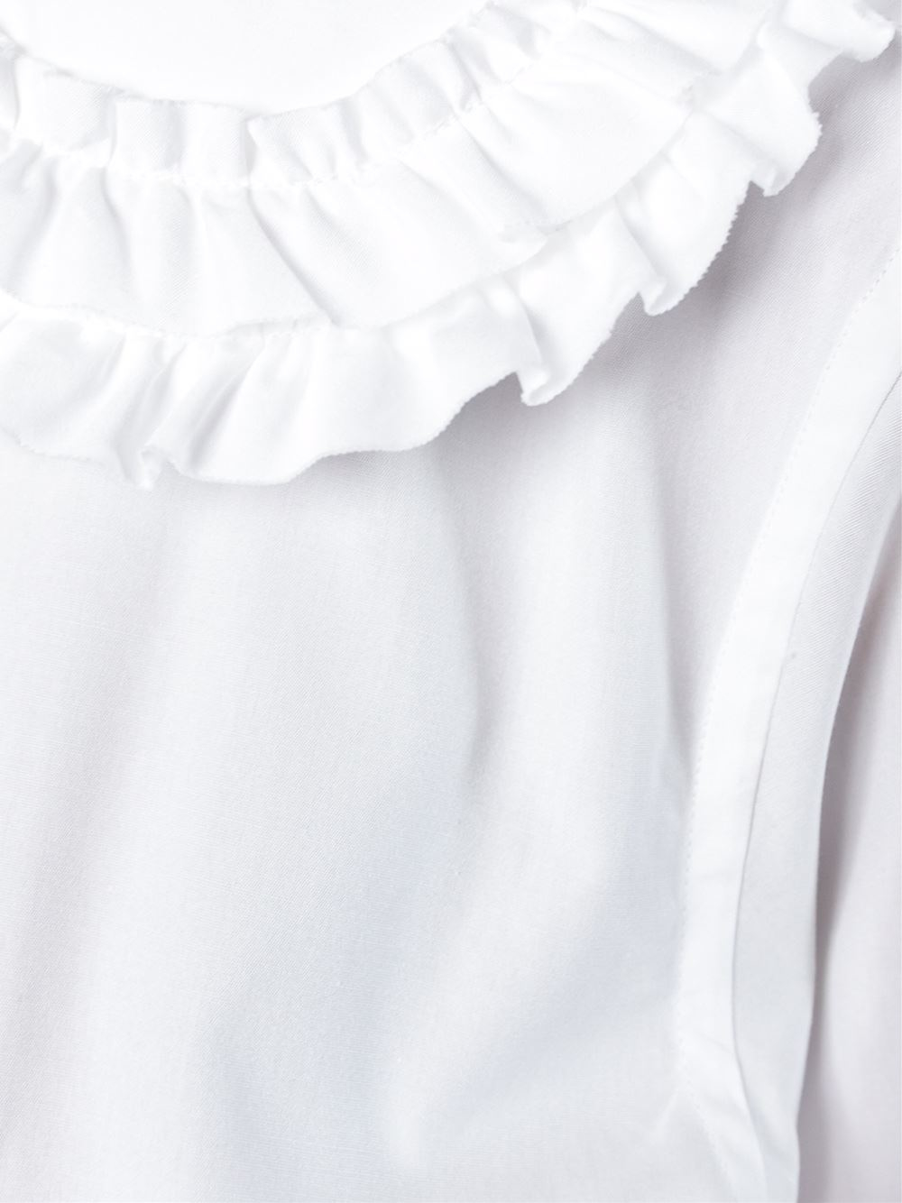 Comme des gar ons peter pan collar blouse in white lyst for White cotton shirt peter pan collar