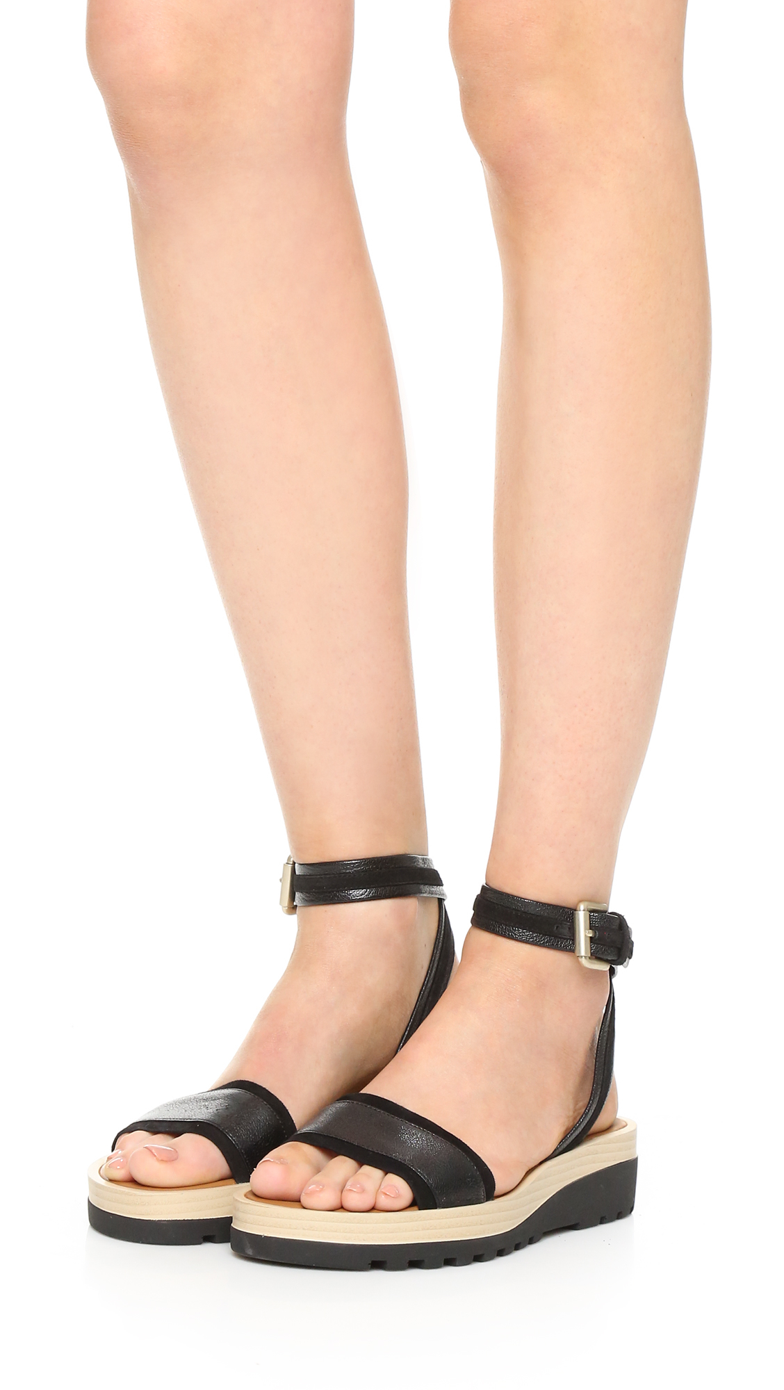 e2b73ed83272 Lyst - See By Chloé Robin Sandals in Black