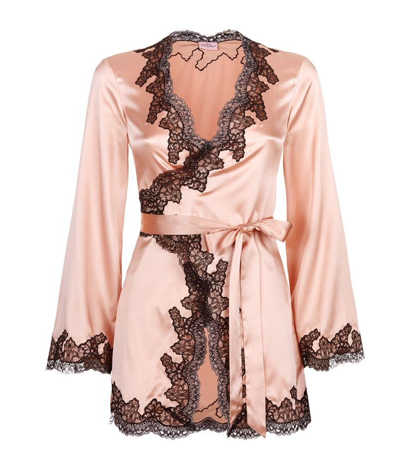 Agent Provocateur Amelea Silk and Lace Camisole Gown in Pink - Lyst e934ca95d