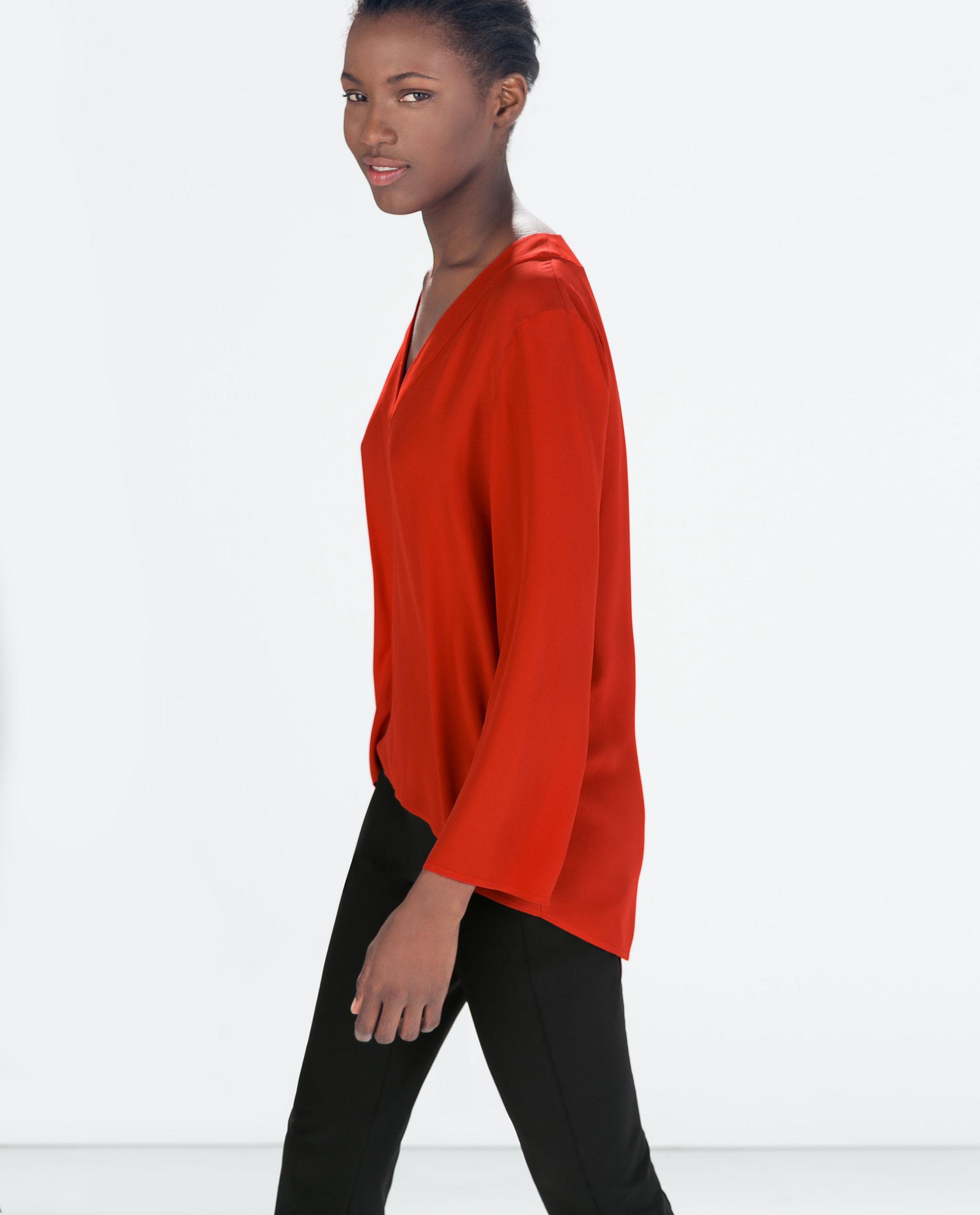 Zara Red Blouse 54