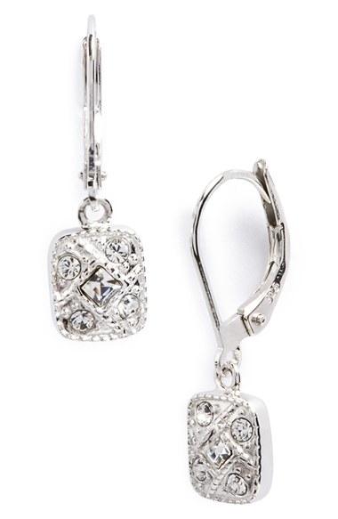 judith jack square drop earrings in metallic lyst