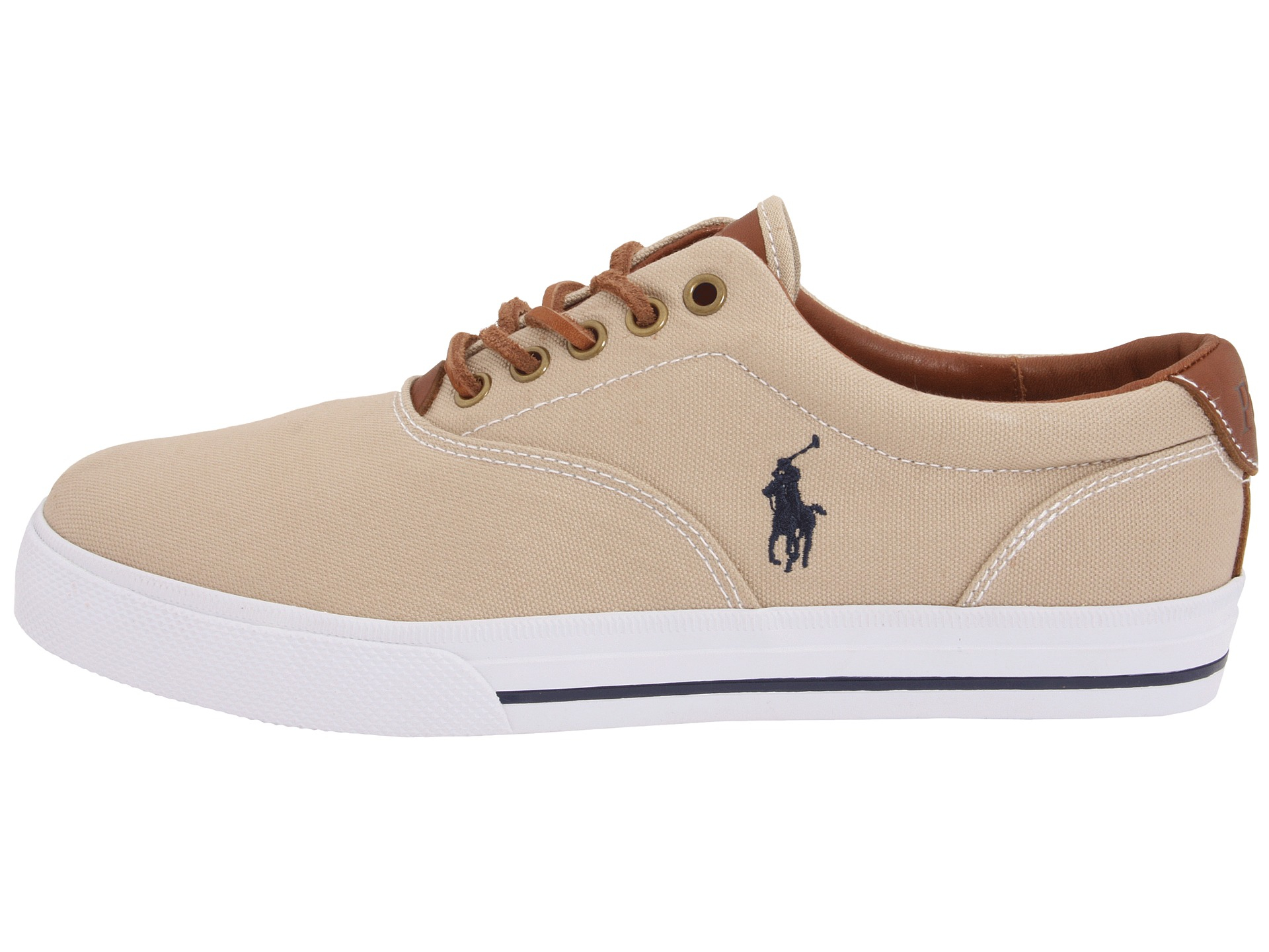 Polo Ralph Lauren Shoes Vaughn Canvas And Leather Sneakers