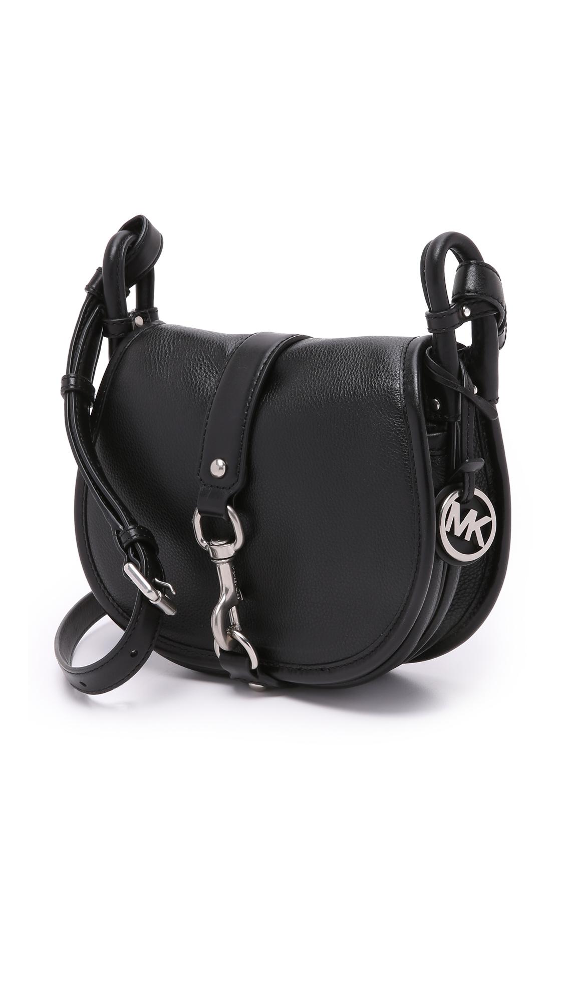 5ec6c18fae15 MICHAEL Michael Kors Jamie Saddle Bag in Black - Lyst