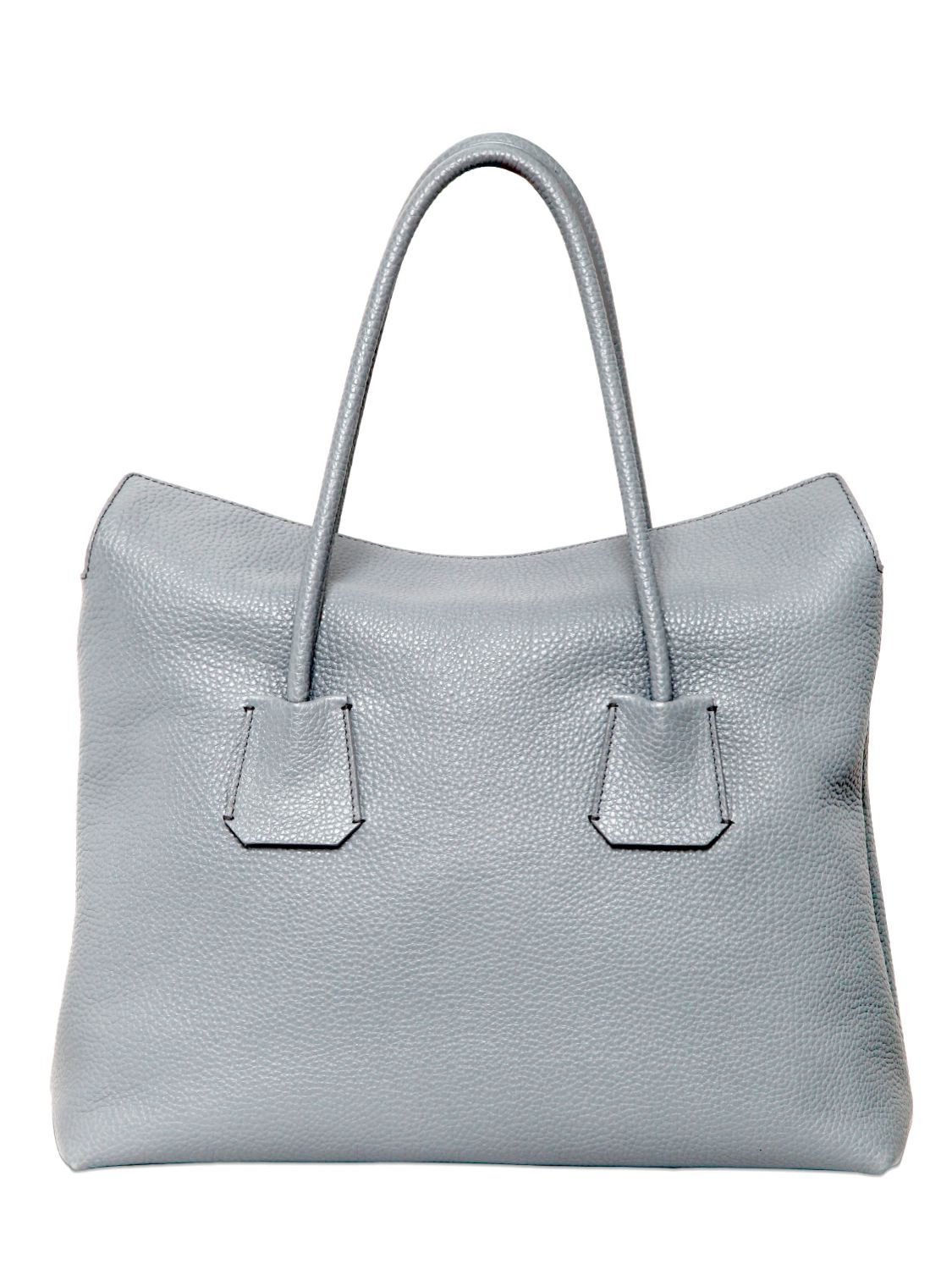 09e442e8b8145 Lyst - Burberry Baynard Grained Leather Top Handle Bag in Gray
