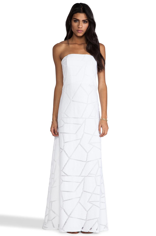 Alexis Lyona Strapless Maxi Dress in White | Lyst
