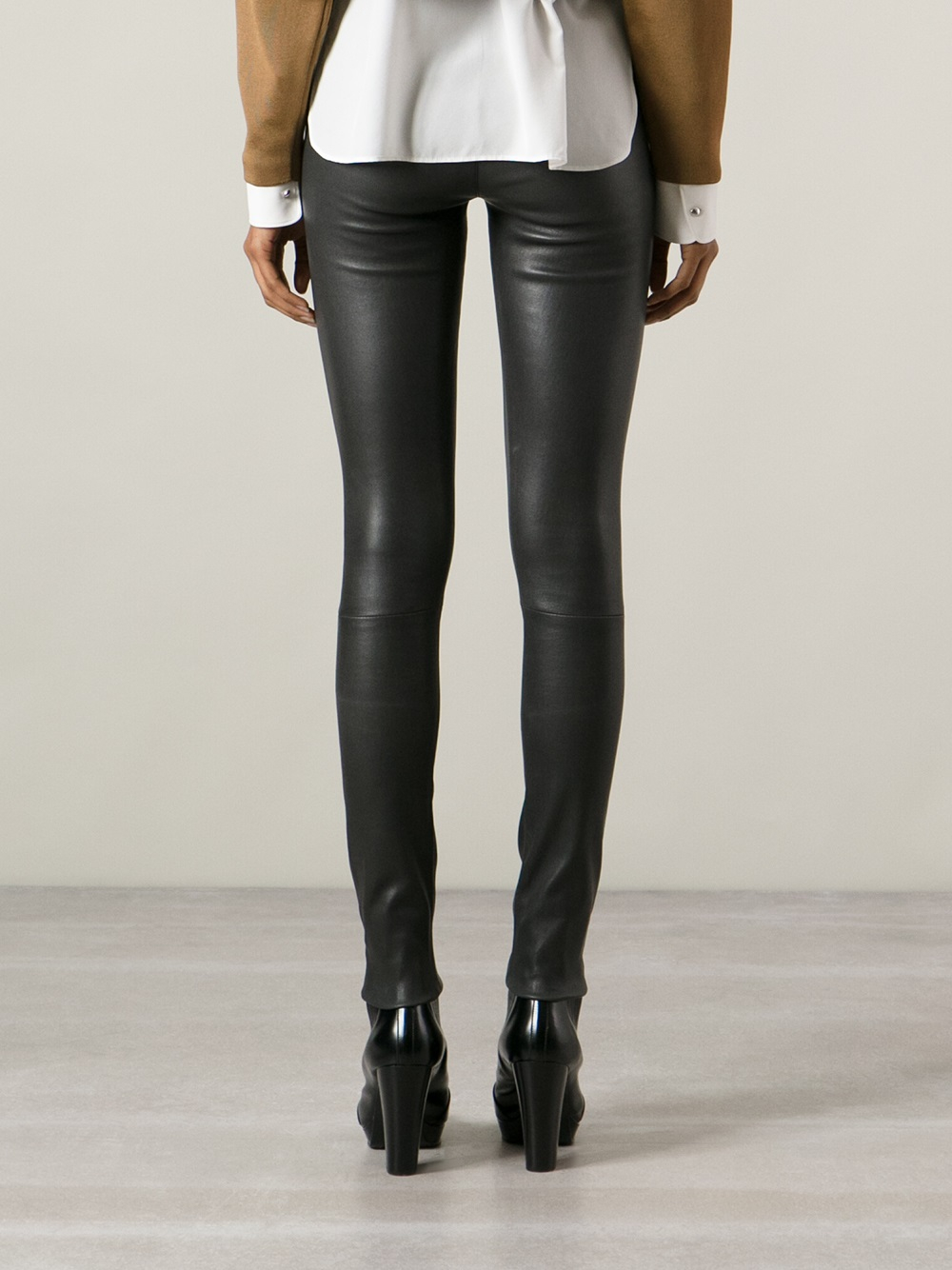 lyst drome leather leggings in black