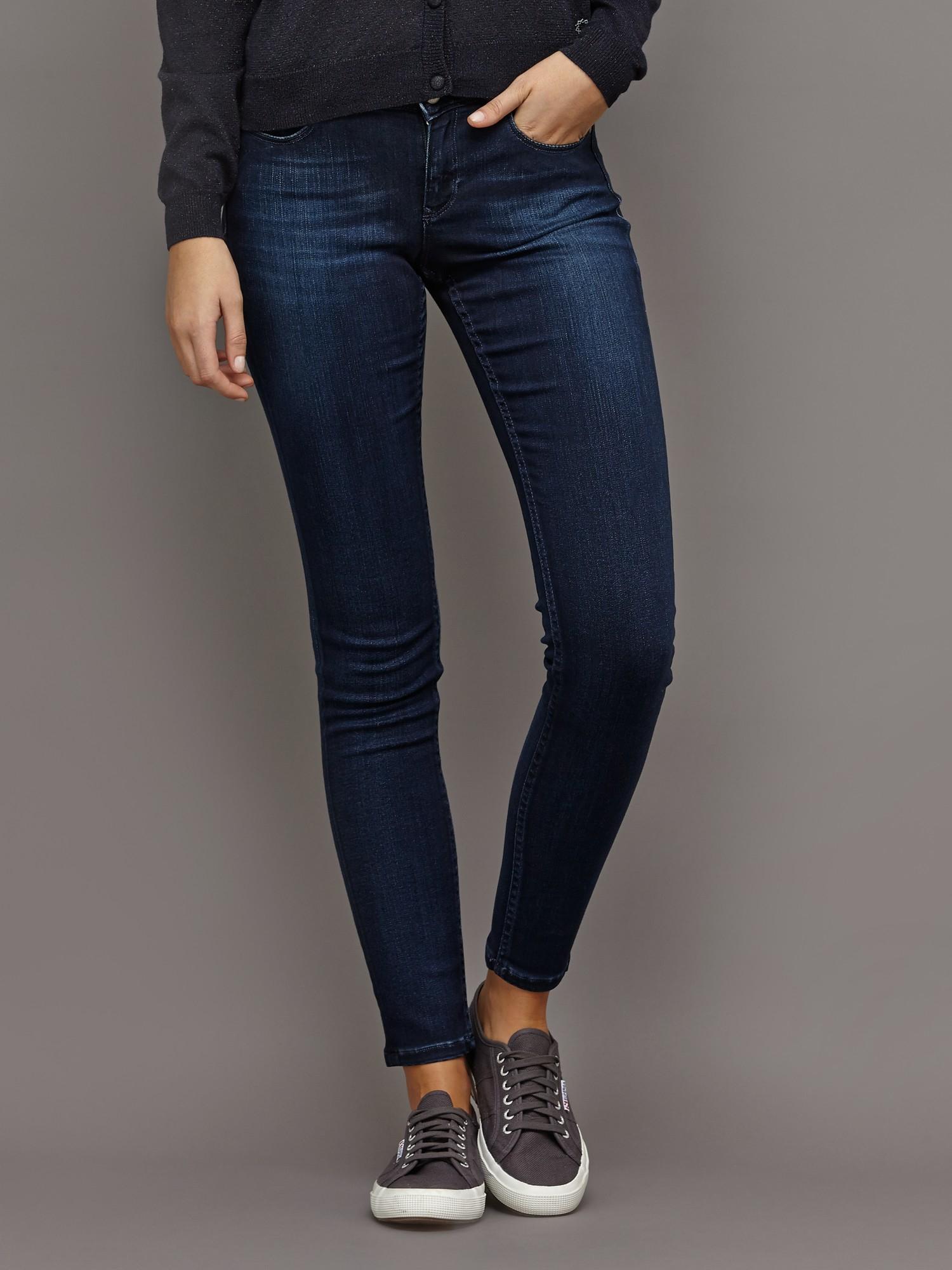 maison scotch la parisienne skinny jeans in blue lyst. Black Bedroom Furniture Sets. Home Design Ideas