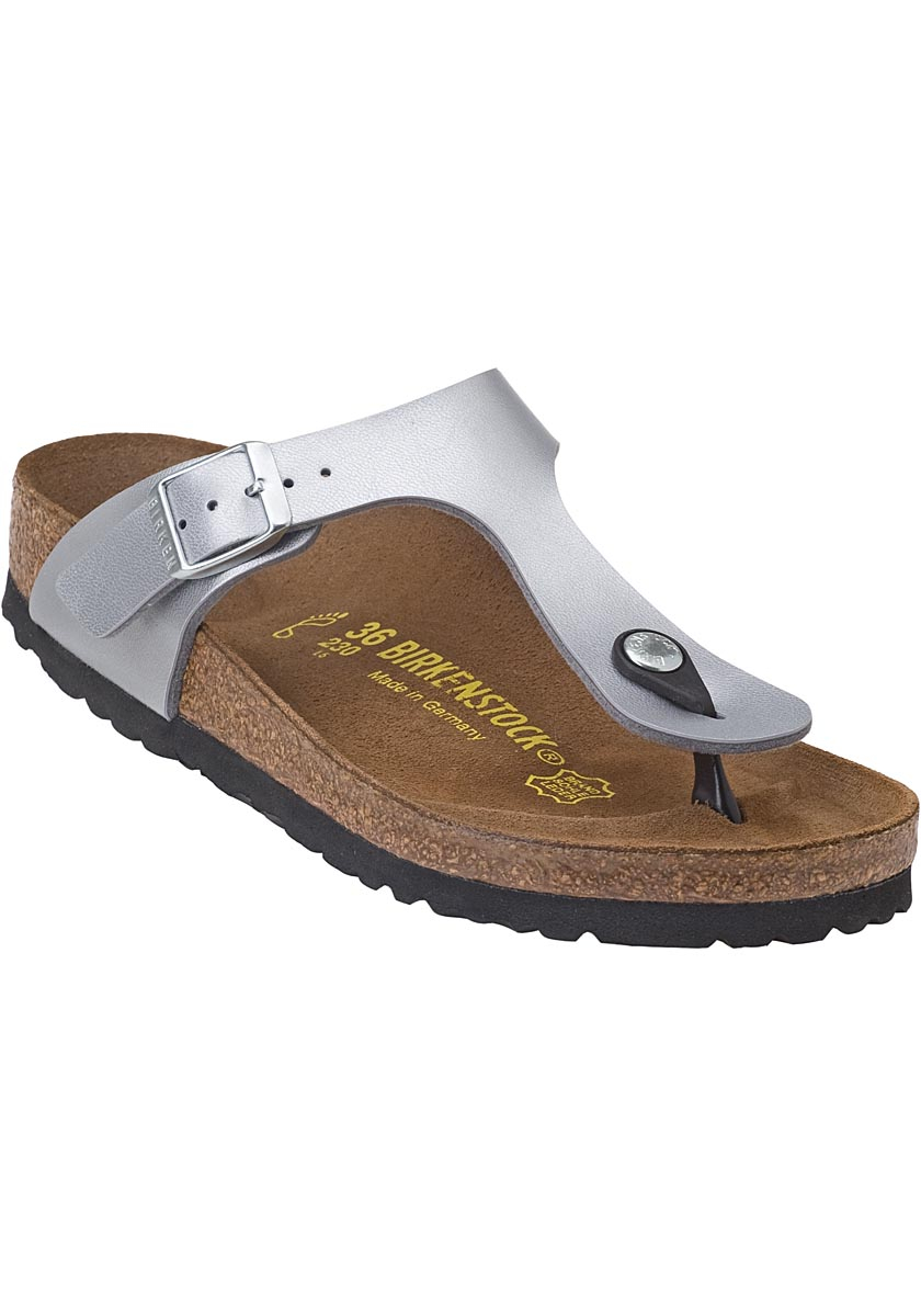 birkenstock gizeh thong sandal silver birko flor in silver. Black Bedroom Furniture Sets. Home Design Ideas
