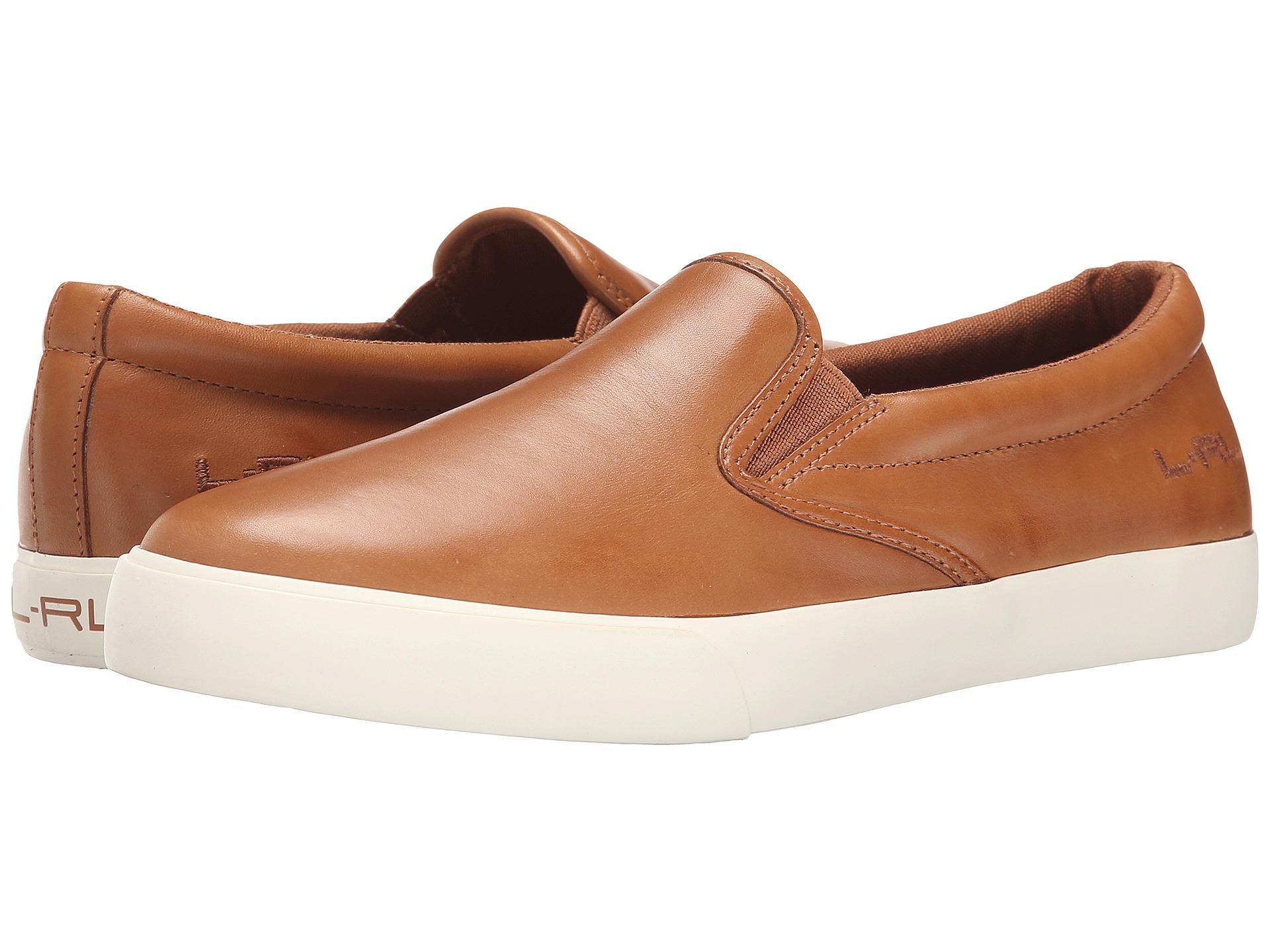 Lauren By Ralph Lauren Cedar- Lauren Tan Soft Burnished Calf sneakers