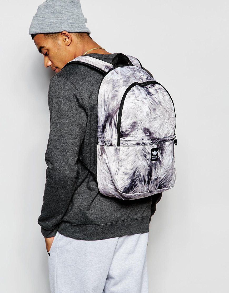 870b23891cec Lyst - adidas Originals Fur Backpack in Black for Men