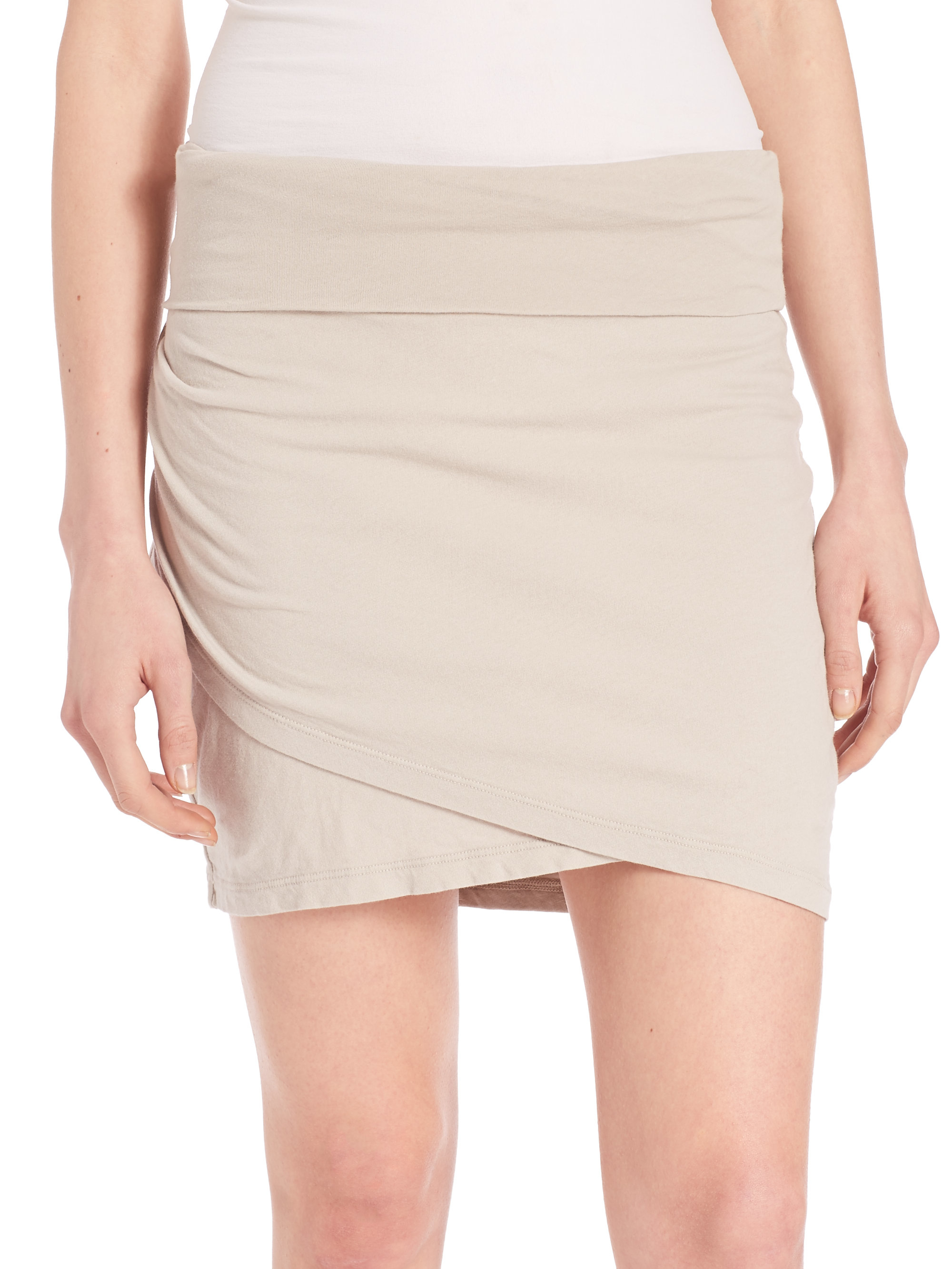 high waisted wrap skirt in lyst