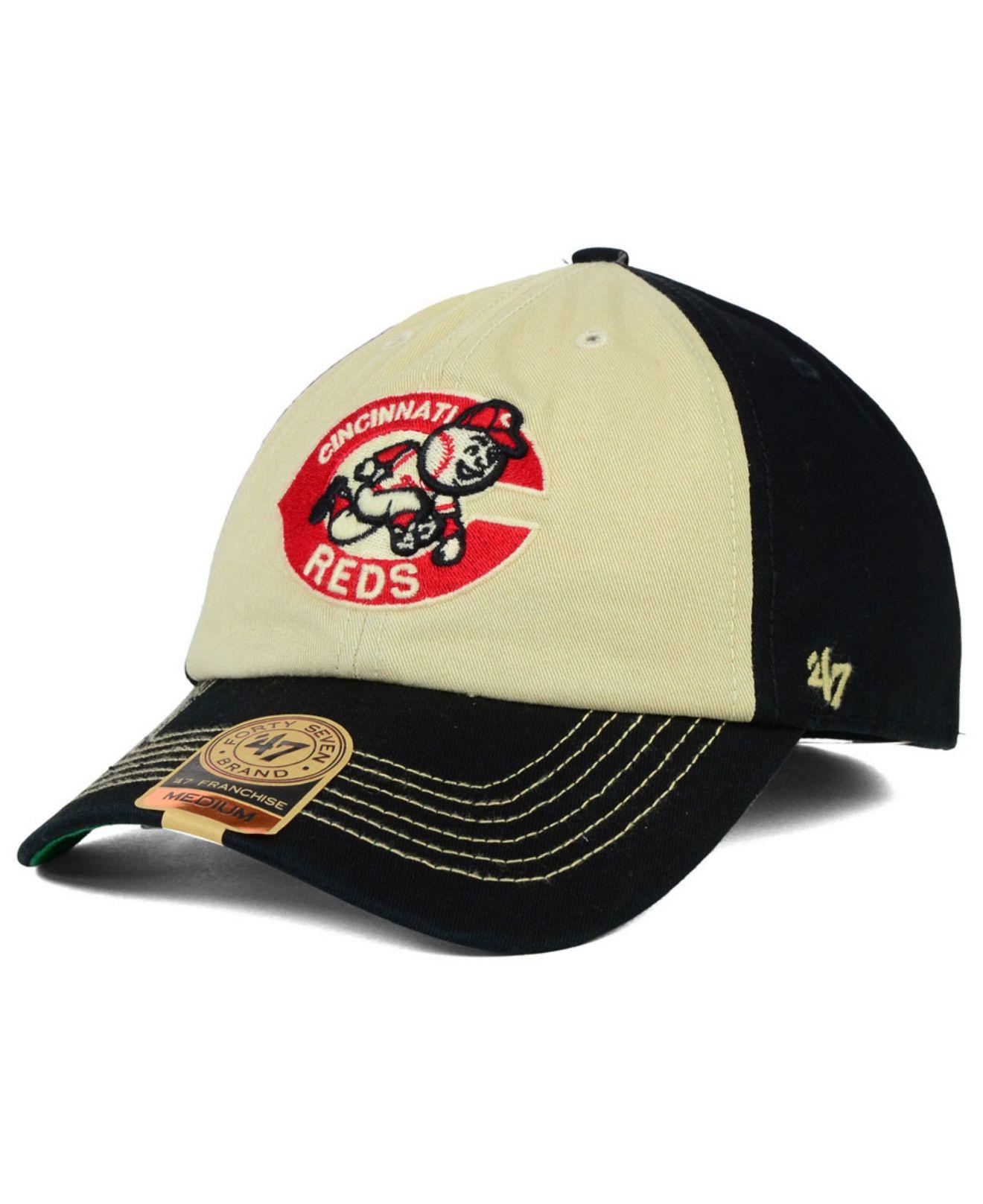 bc750c33e6146 Lyst - 47 Brand Cincinnati Reds Hodson Franchise Cap in Black for Men