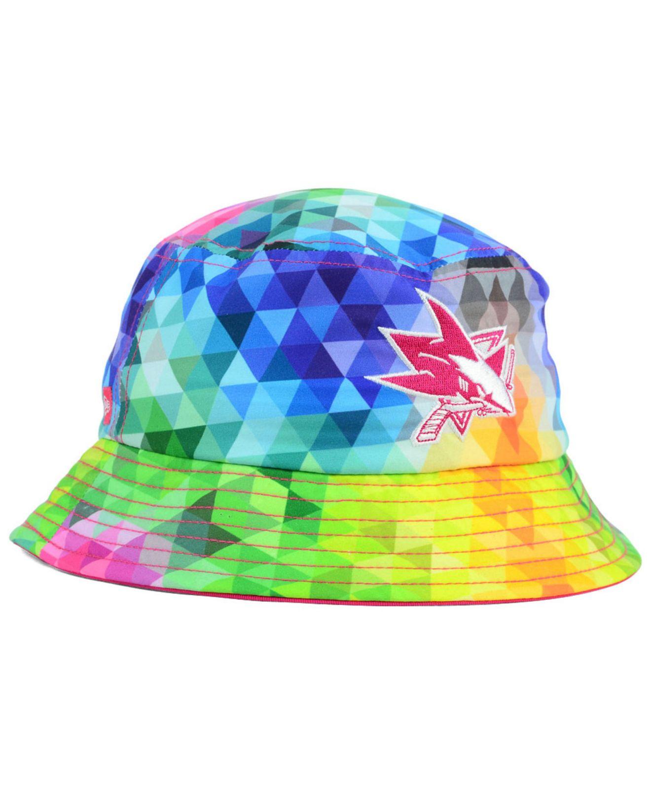 d850a86245d Lyst - KTZ Girls  San Jose Sharks Gem Bucket Hat