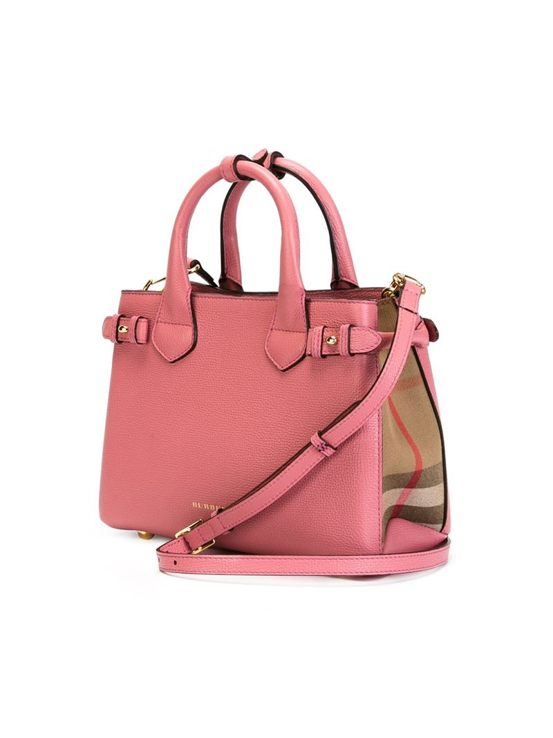 ccedb78b3d27 Lyst - Burberry Small  banner  Tote in Pink