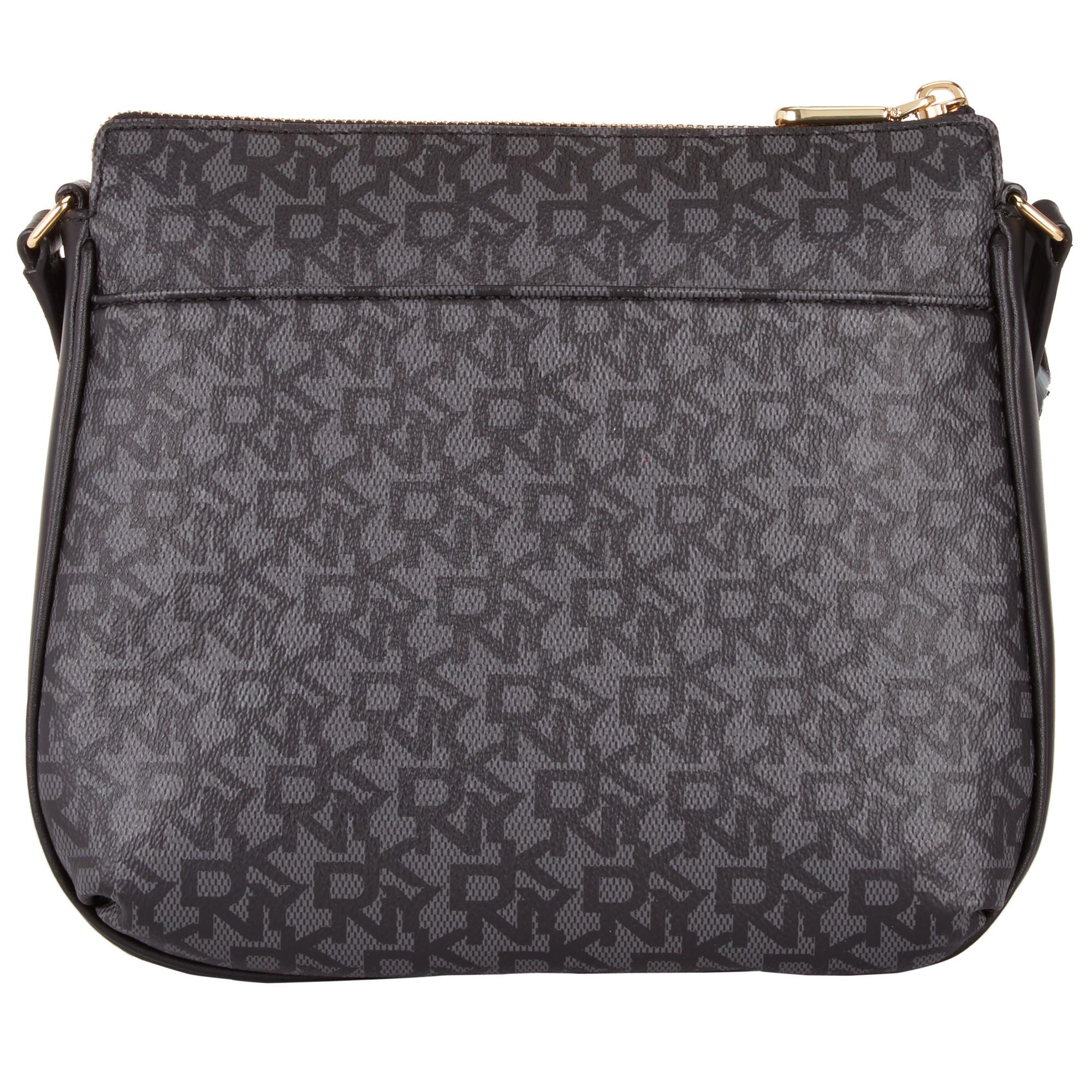 dea904fe5b1a DKNY Heritage Coated Logo Across Body Bag in Black - Lyst