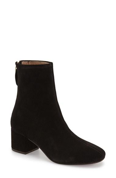topshop avocado suede boots in black lyst