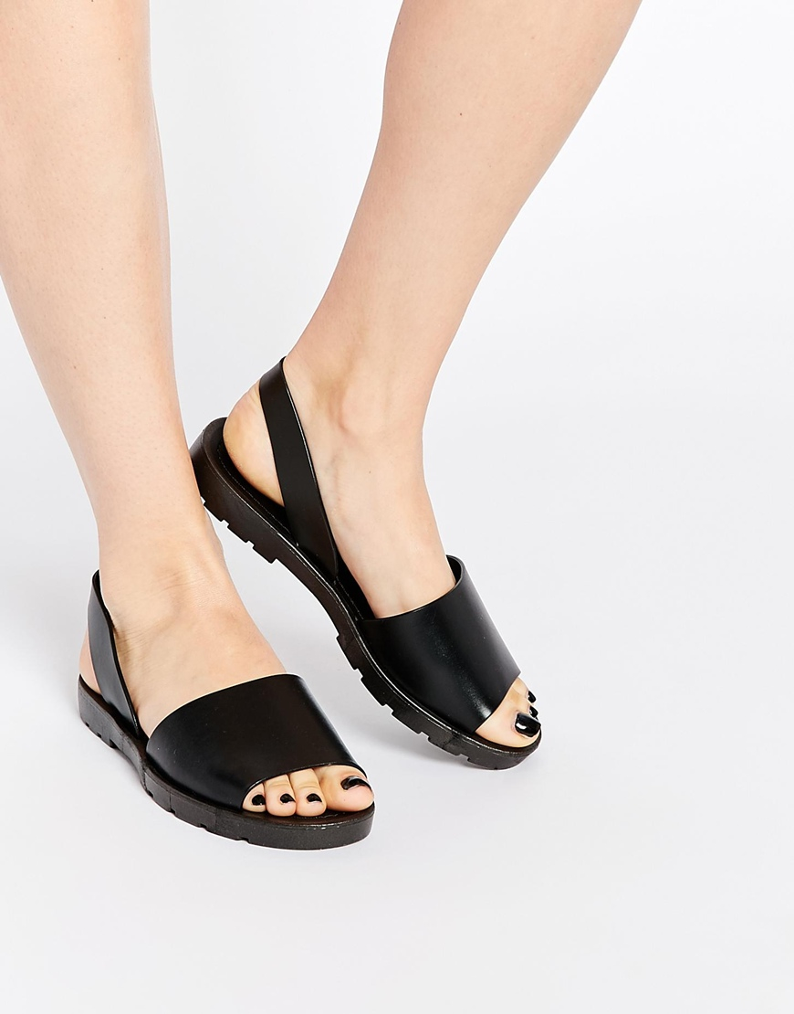 c51eca2e9ab ASOS Frenchy Jelly Sandals in Black - Lyst