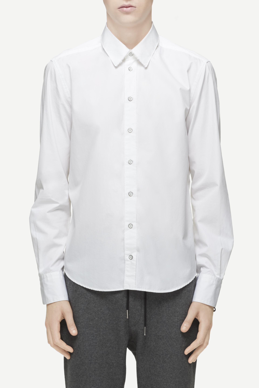 Lyst rag bone rossi shirt in white for men for Rag and bone white t shirt
