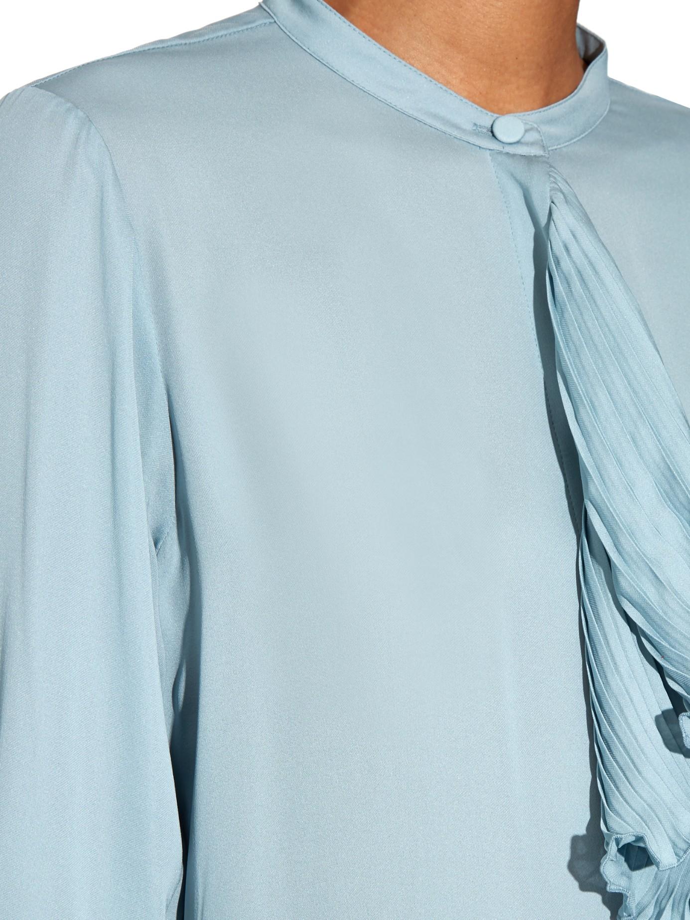 Pale Blue Silk Blouse Breeze Clothing