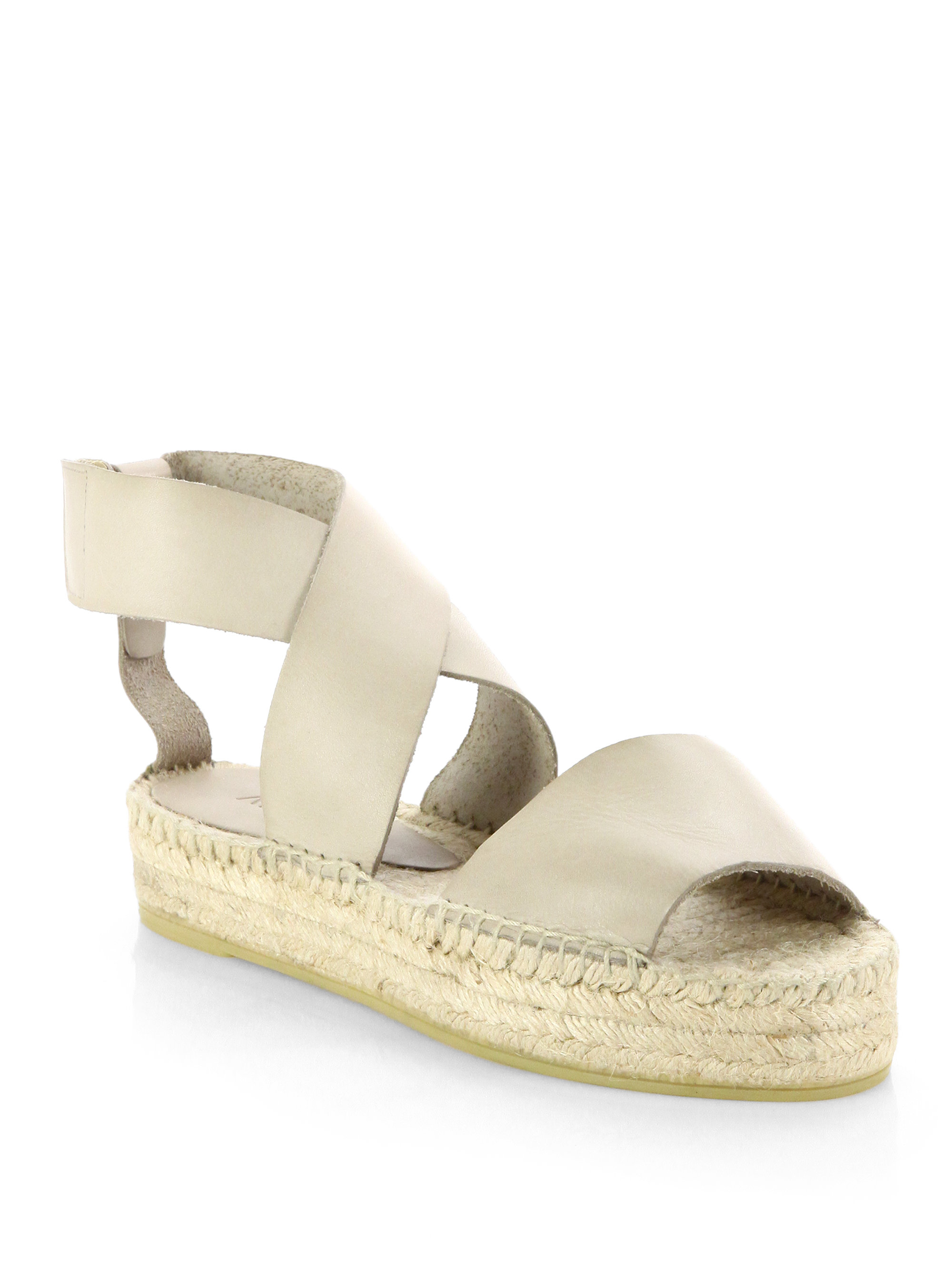 4660ef9f1af5c Lyst - Vince Elise Leather Espadrille Sandals in Natural