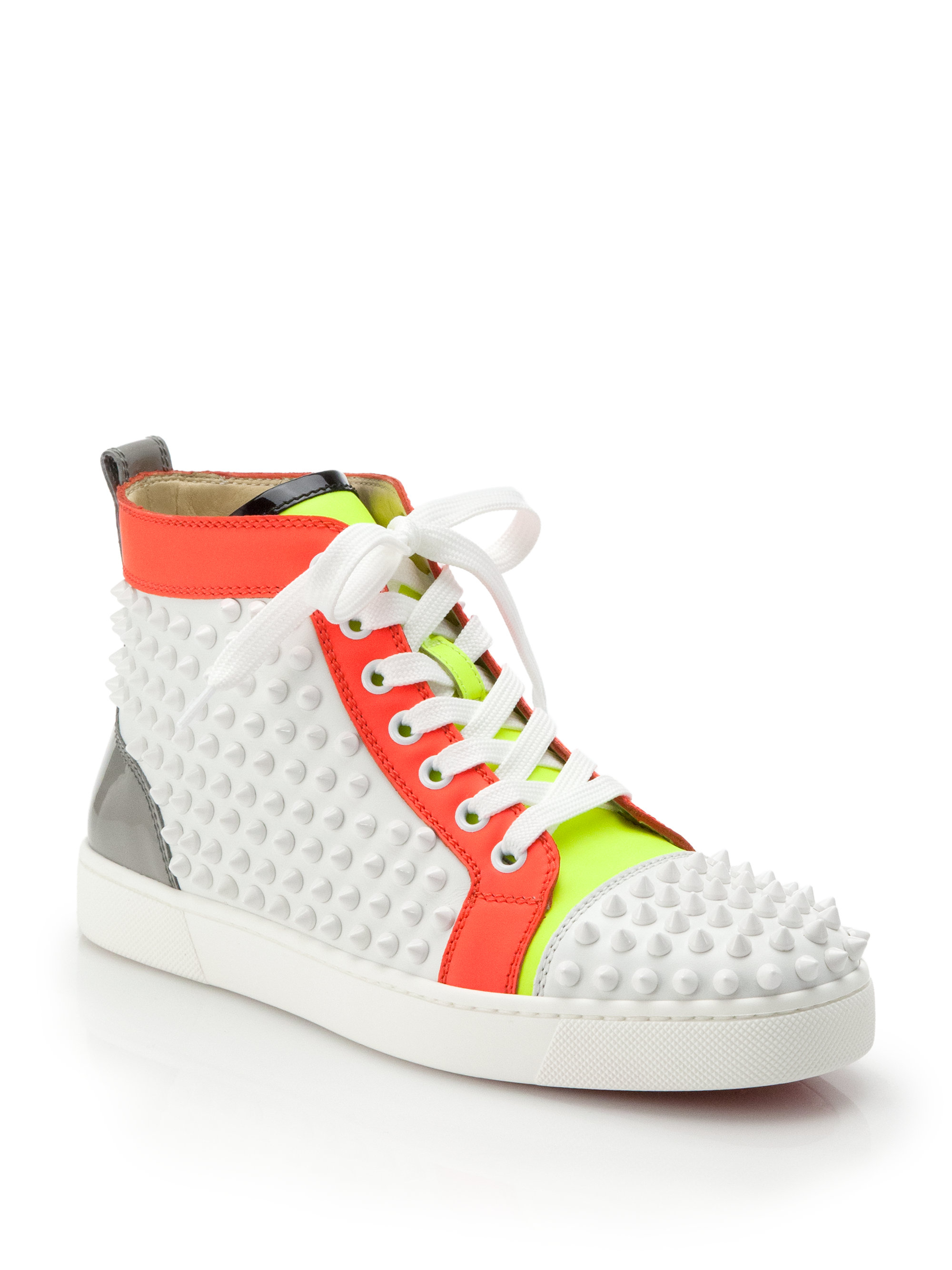 Lyst - Christian Louboutin Louis Woman Studded Colorblock Leather ... 69362891ab